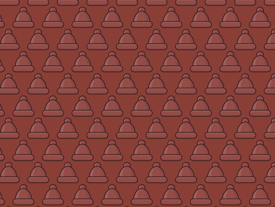 Santa Hat Vector pattern