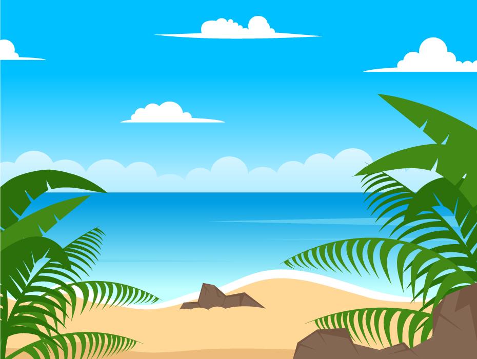Seashore and Beach Background