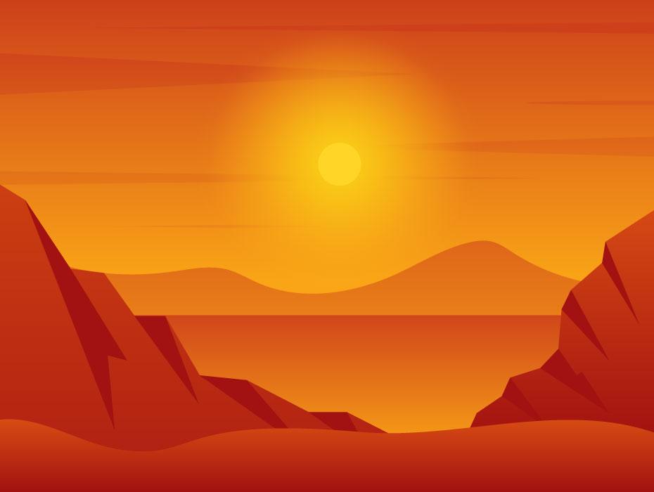 Summer Desert Landscape
