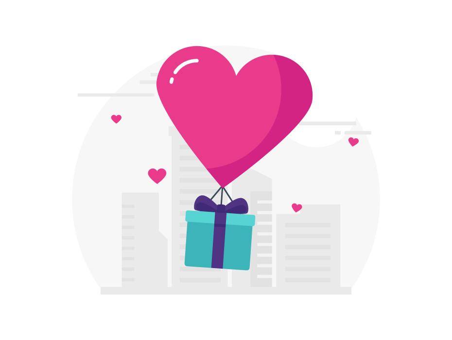Valentine Gift Free Vector
