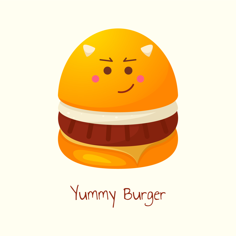 Yummy Burger Vector Free Download
