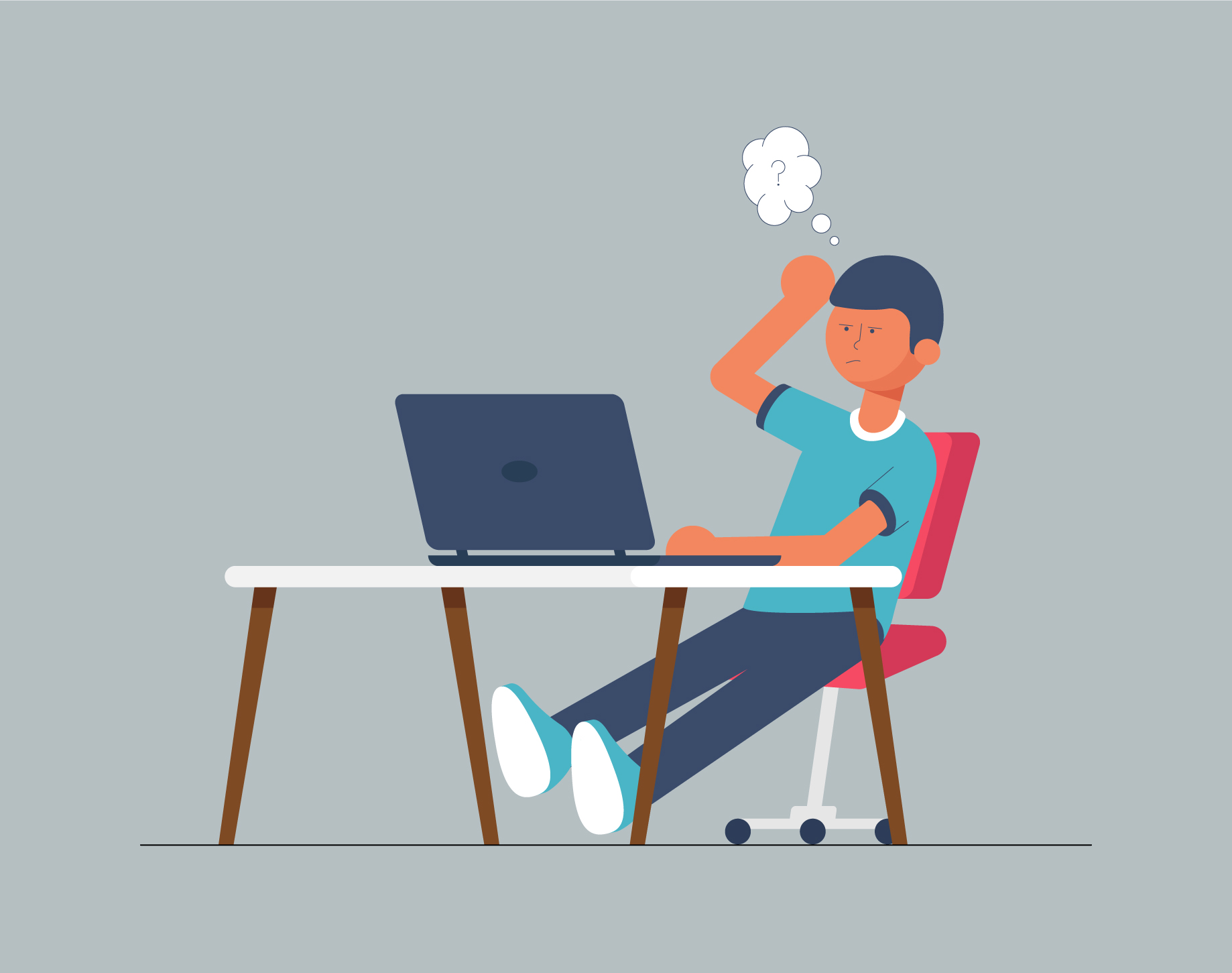 Workplace Vector Illustration