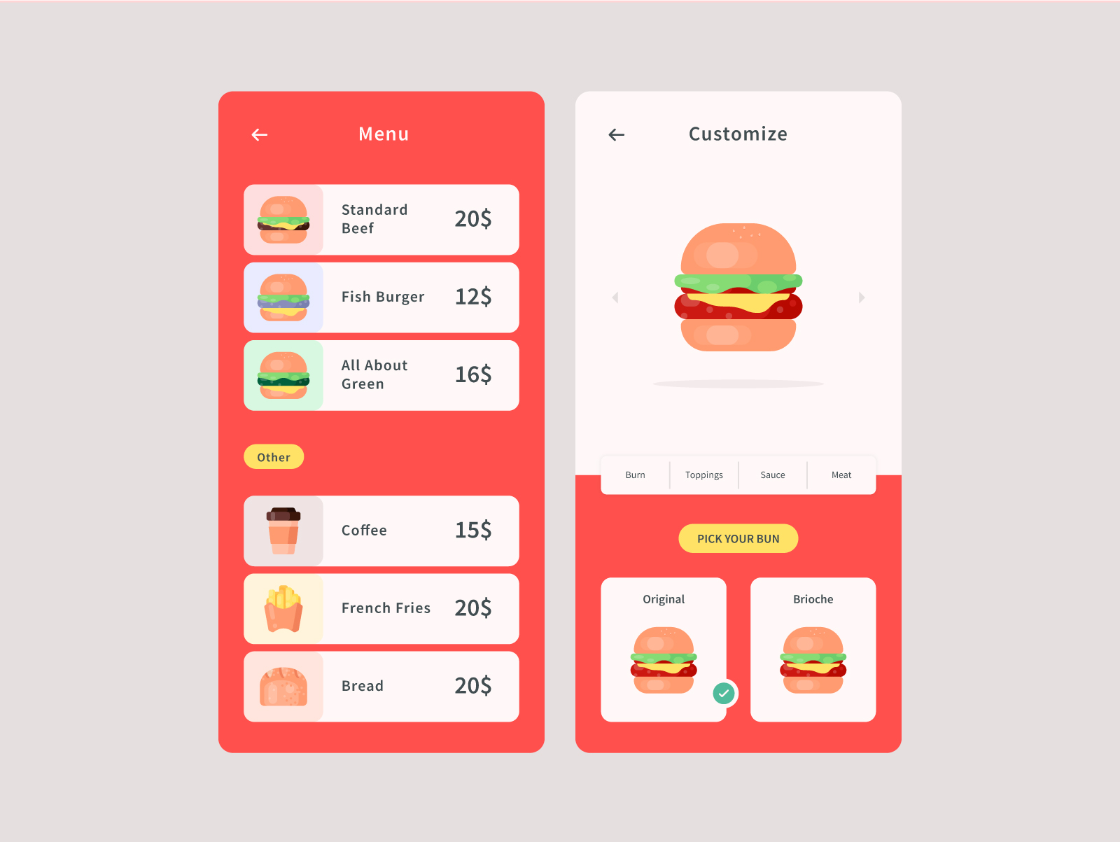 Food Delivery Menu Template
