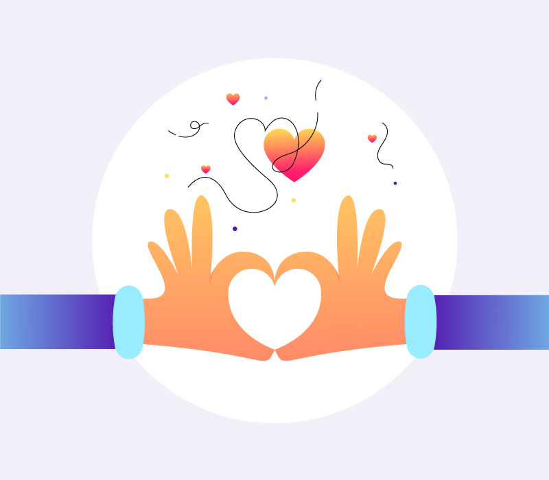 Hand Heart Gesture Illustration