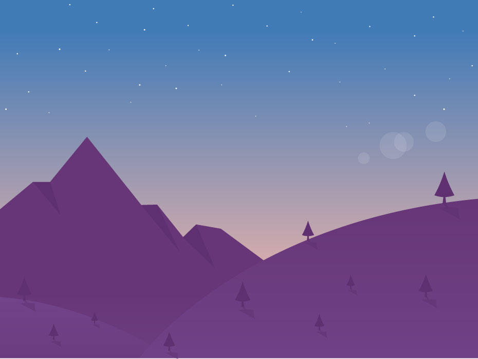 Hills Landscape Illustration