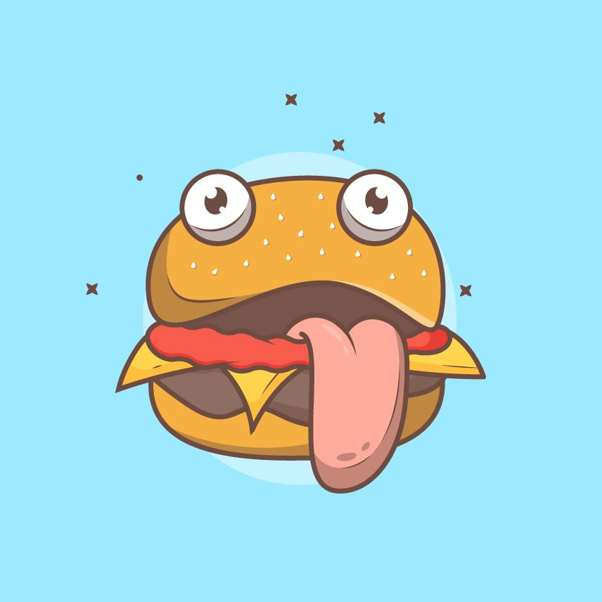 Monster Burger Illustration