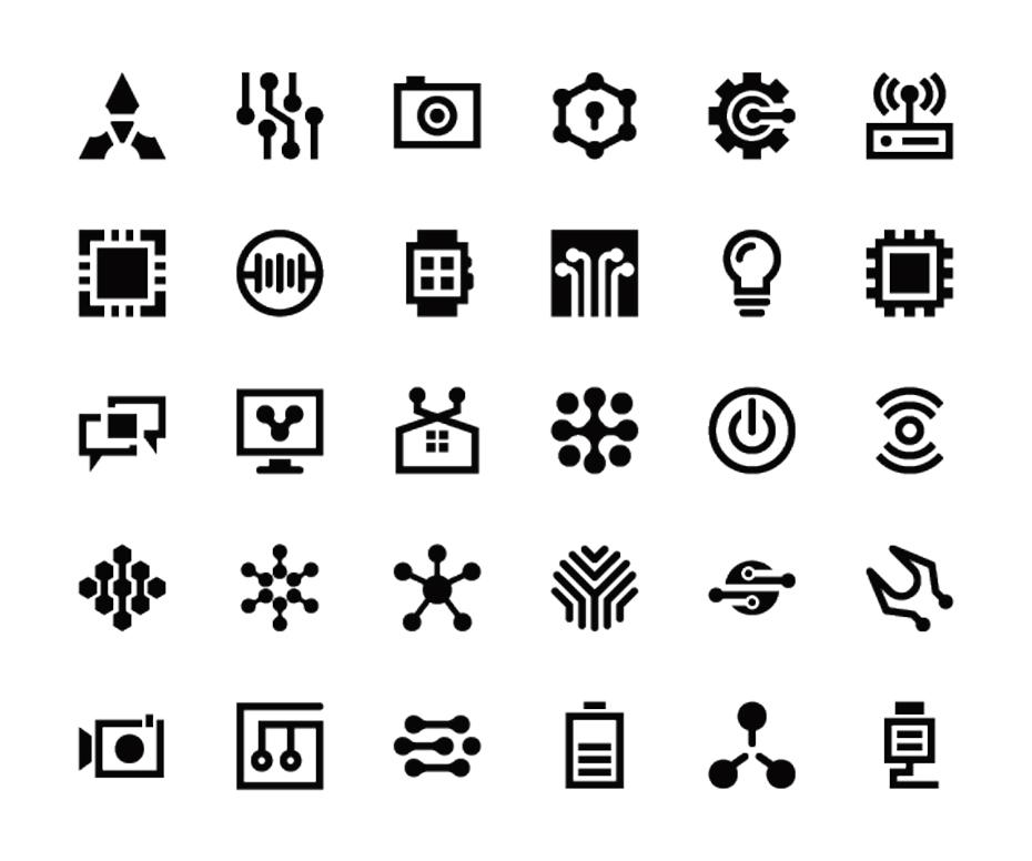 Technology Symbols Free Vectors