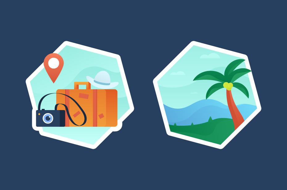 Travelling Illustration Vector