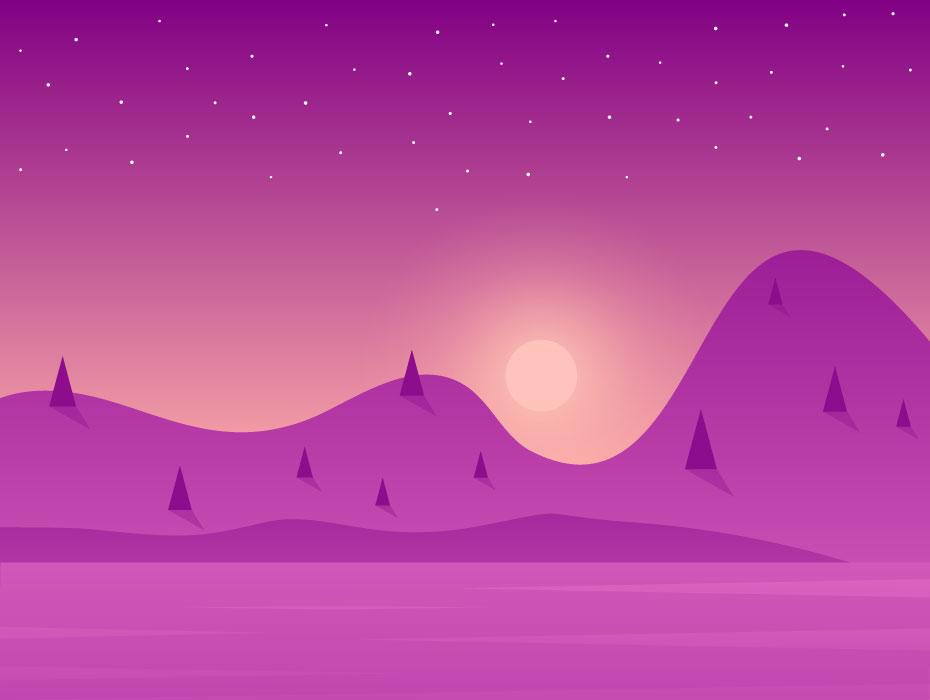 Landscape Illustration Vector