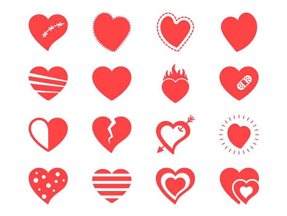 Broken Heart Vectors