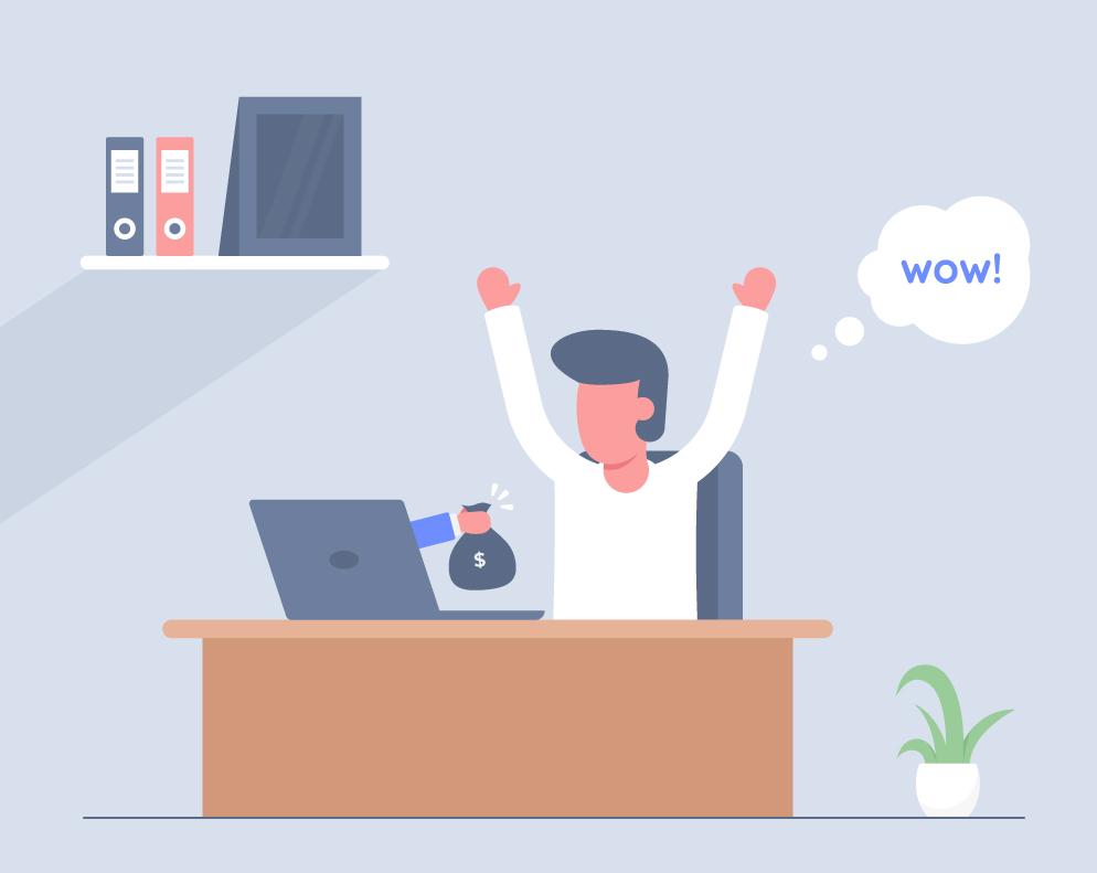 Earn Money Online Vector
