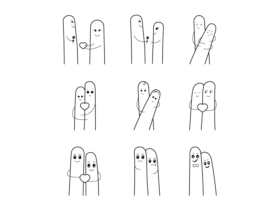 Finger Couple Icons