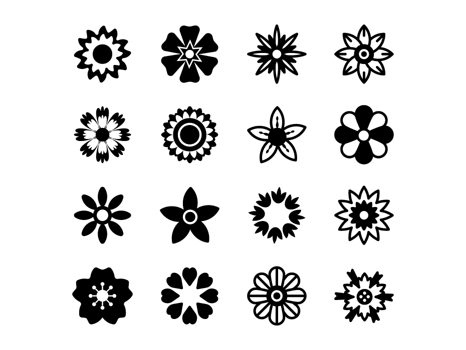 Flowers Solid Icons