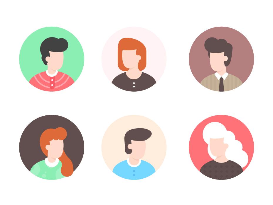 Human Avatars Illustration
