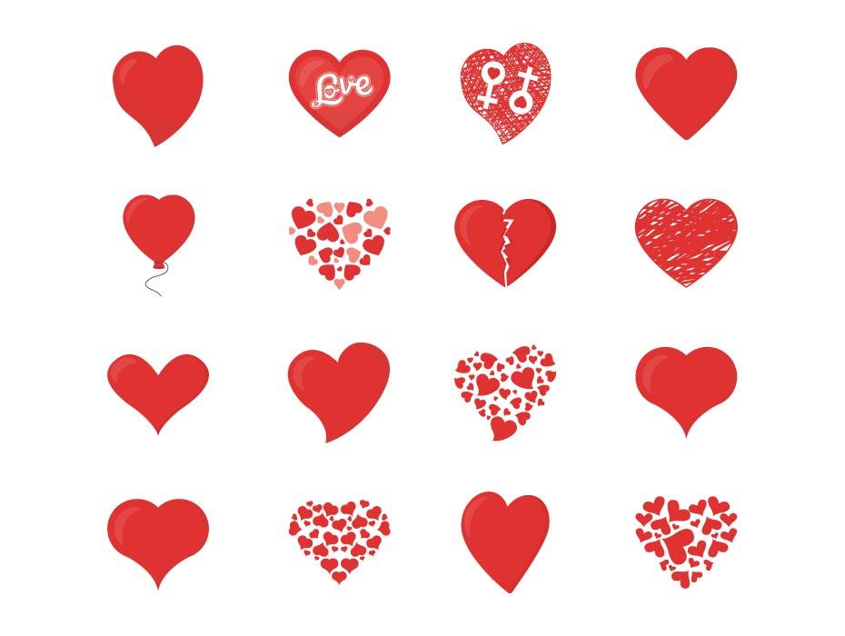 Love Hearts Vector Download