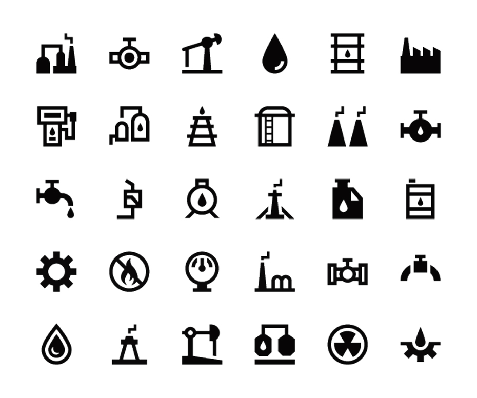 Petroleum Industry Icons