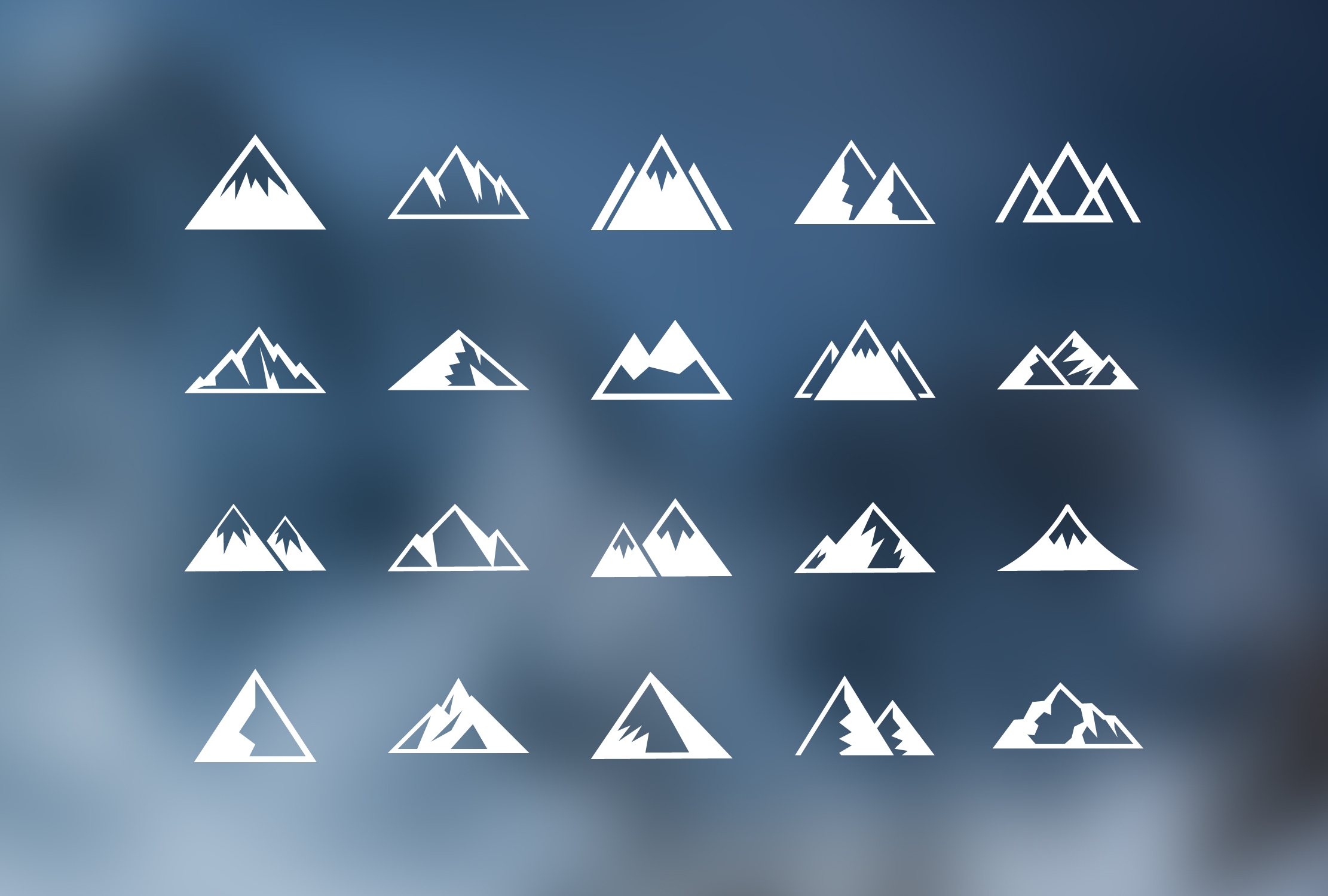 Mountain Icons Free Vector Download