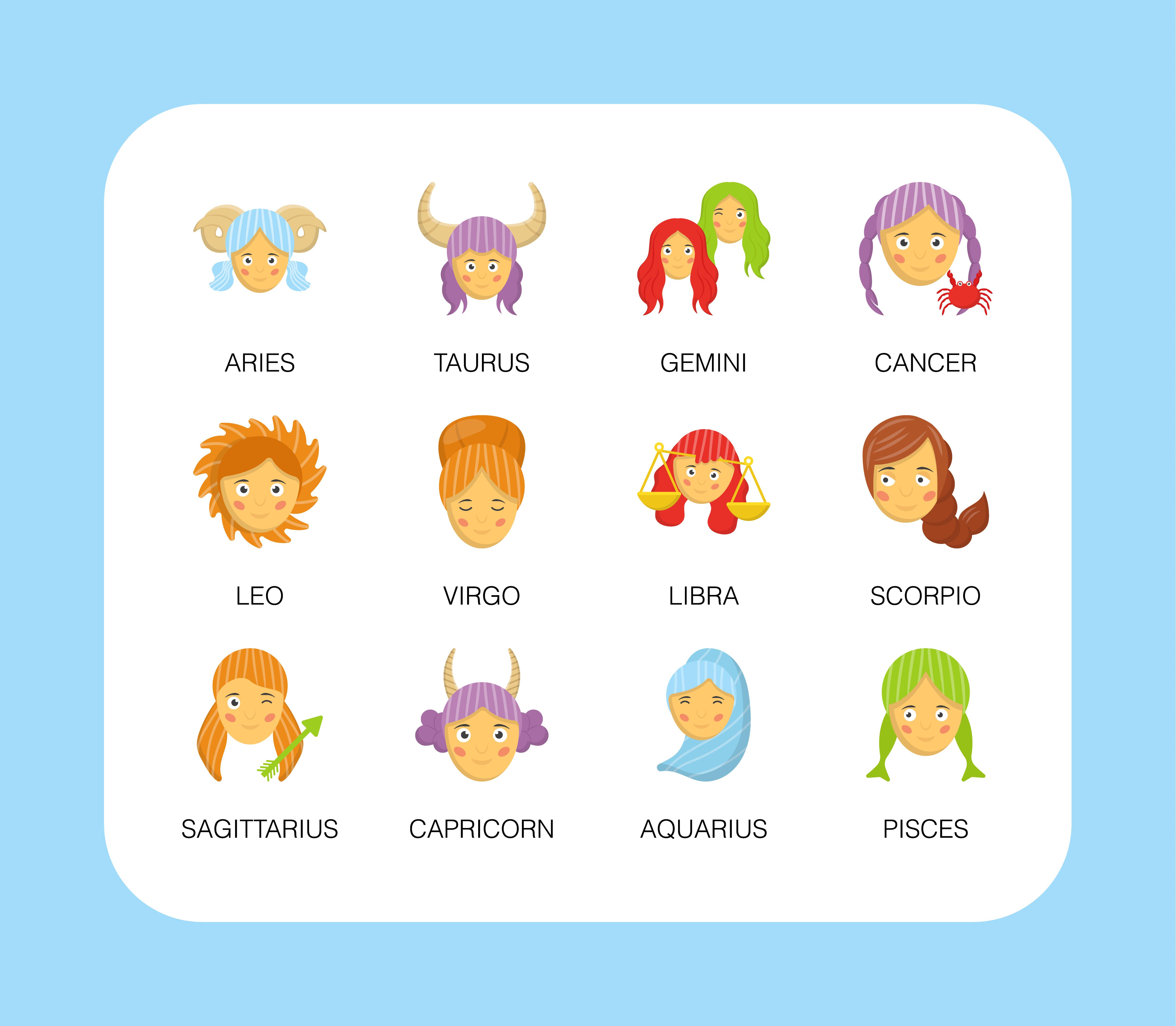 Cute Zodiac Free Vectors Download