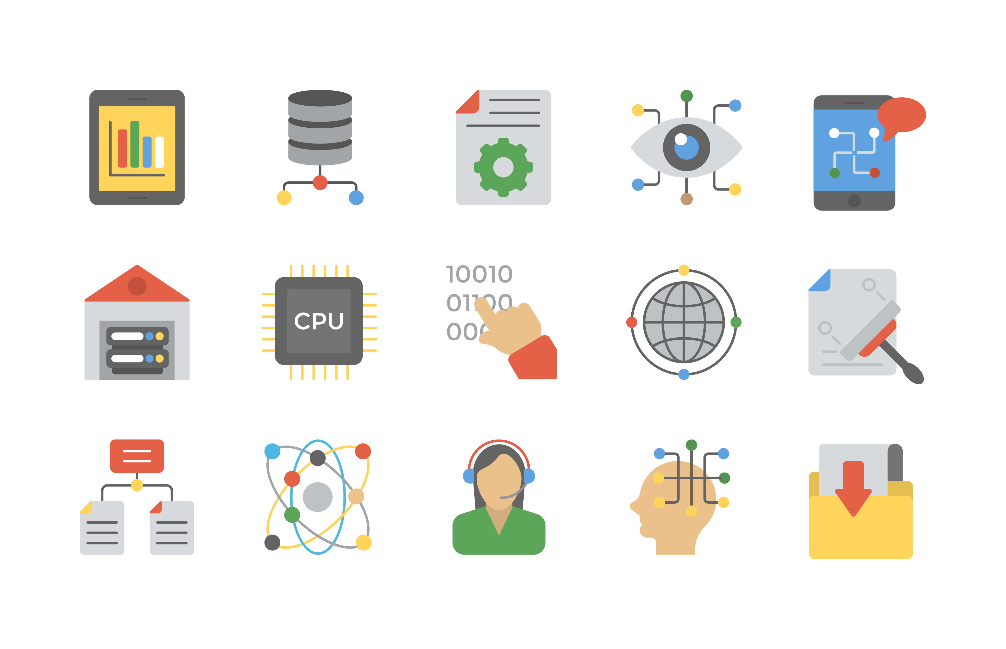 Free Data Management Icon Vector Pack