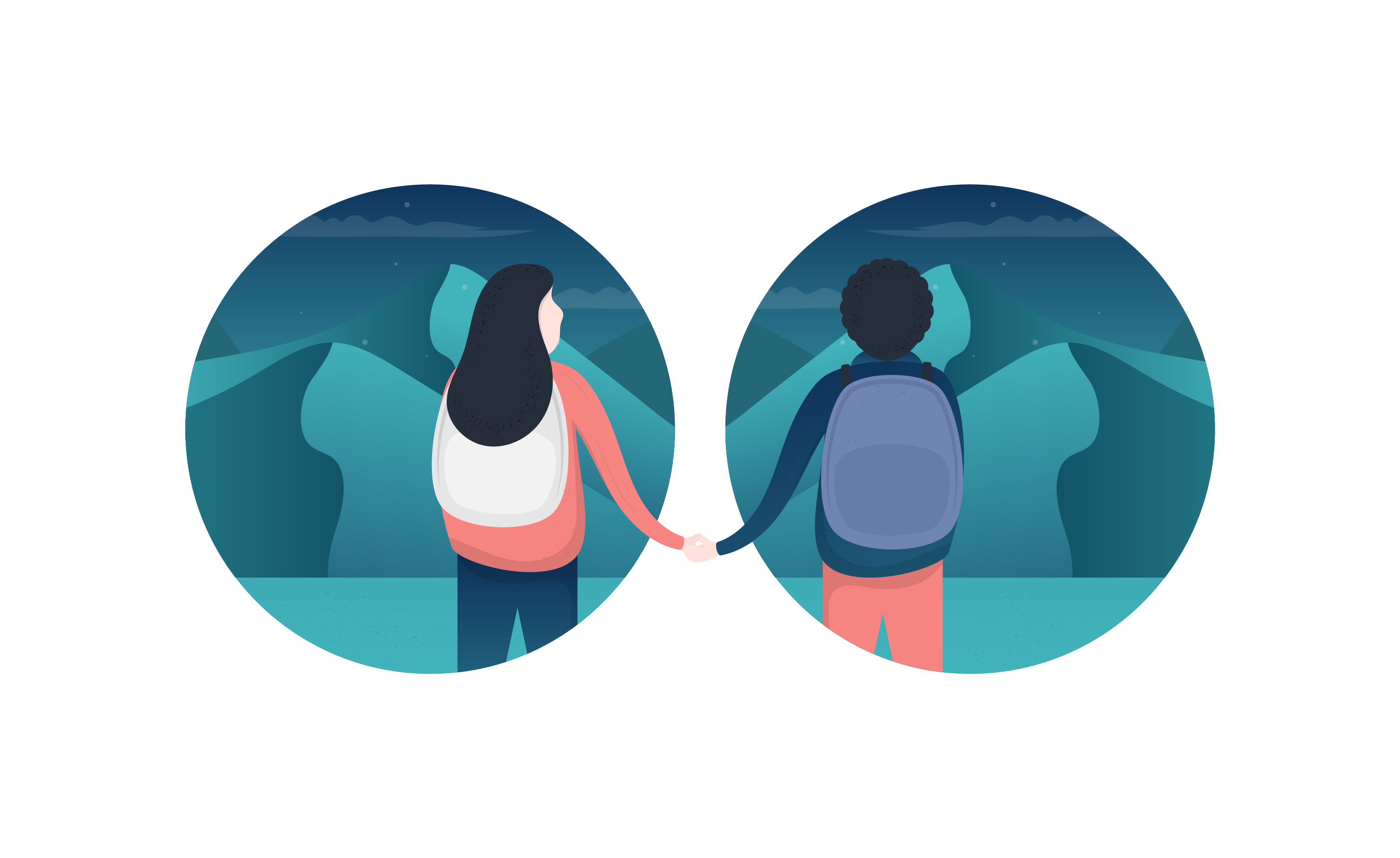 Couple Illustration Vector Free Download