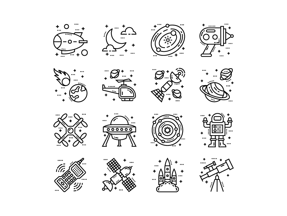 Vector Space and Galaxy Icons