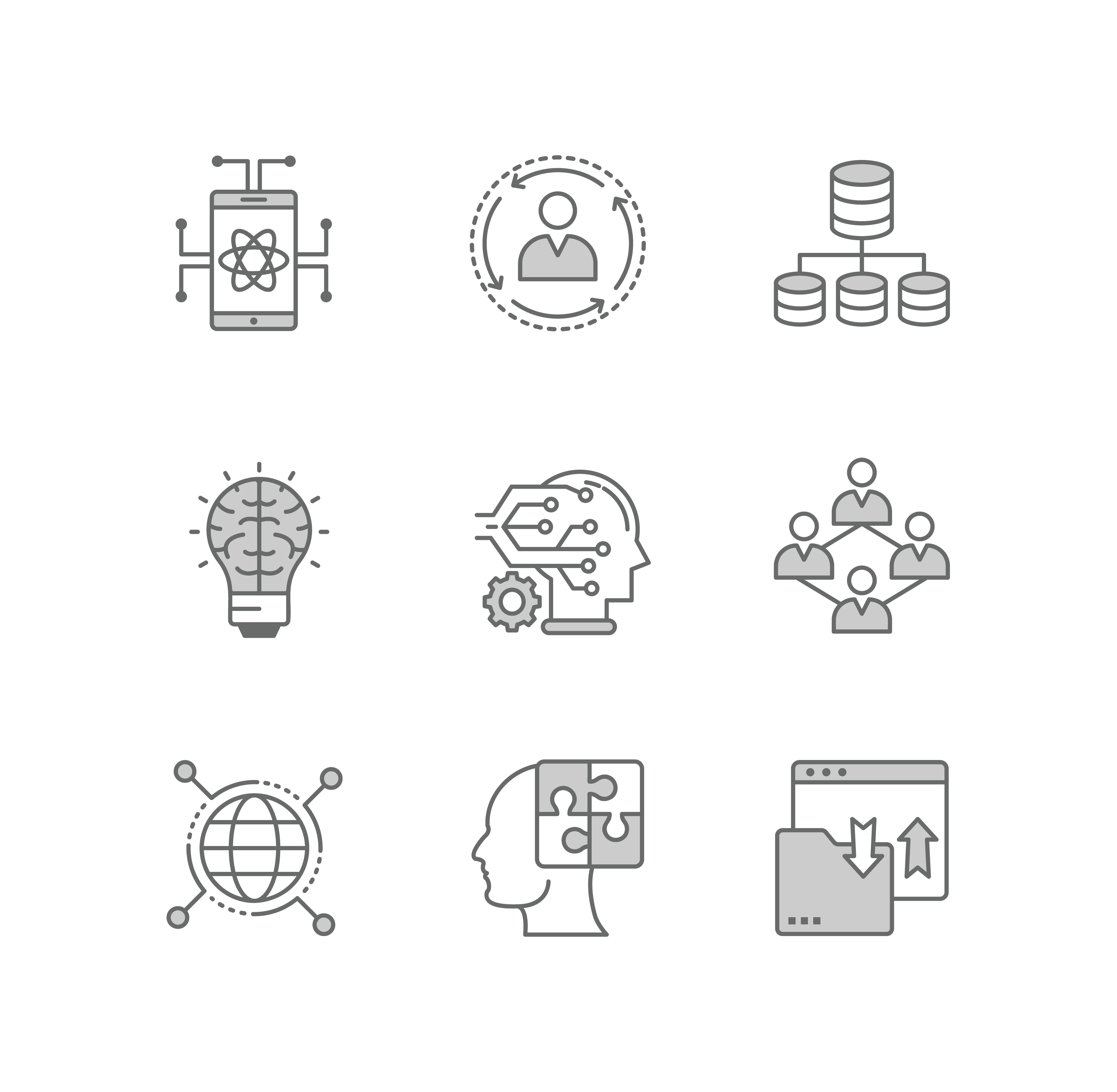 Data Science Line Icons