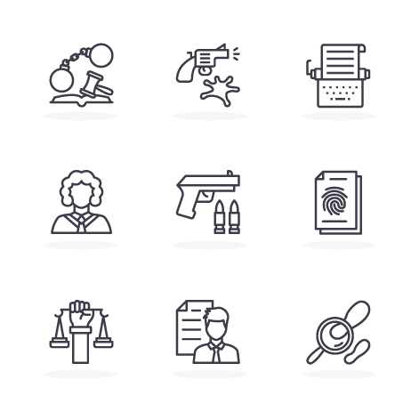 Law Line Icons Download