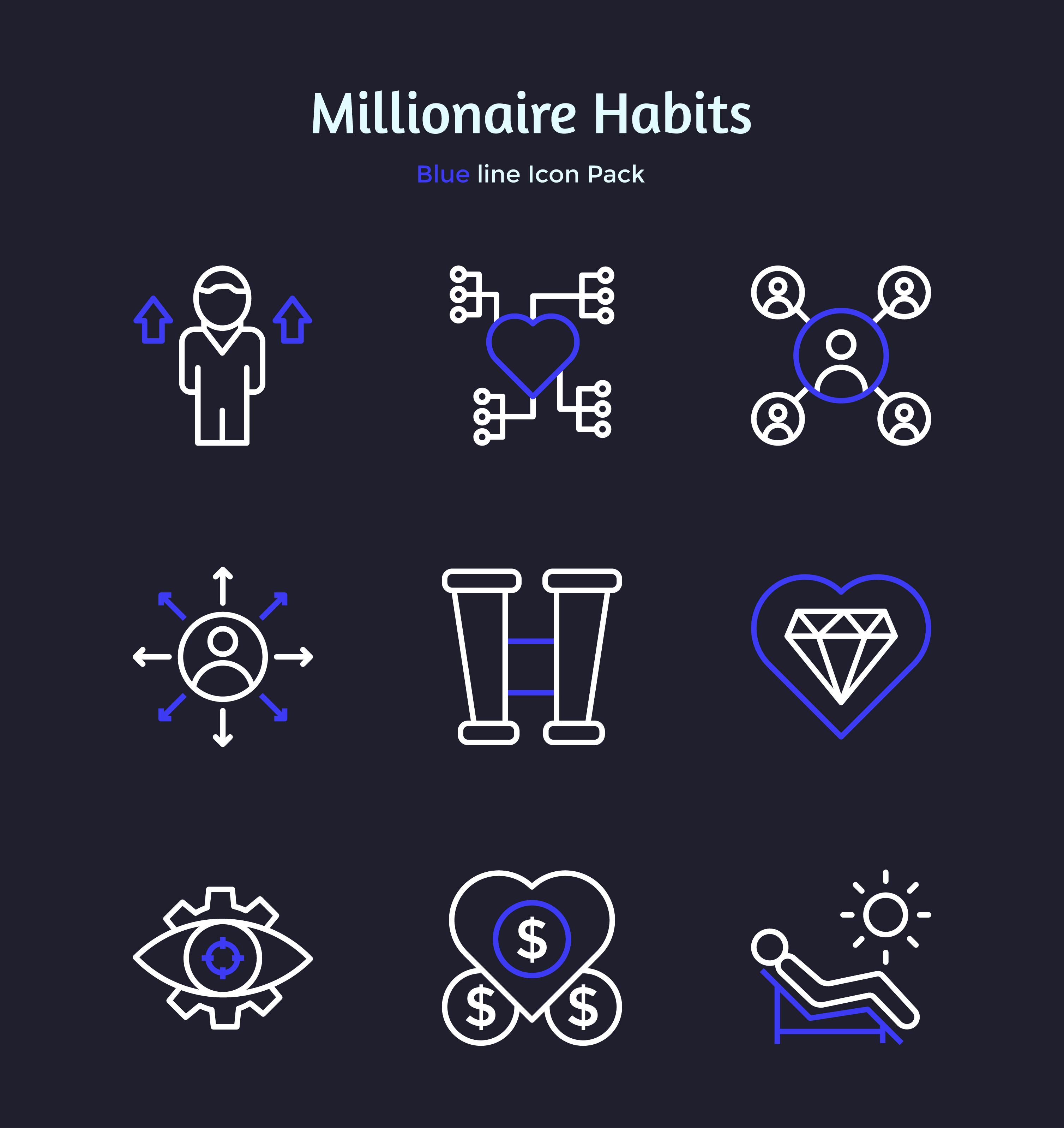 Millionaire Habit Icons Pack