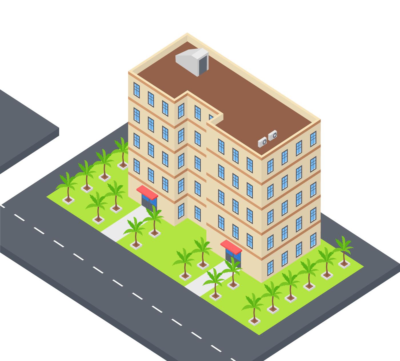 Modern Building Vector