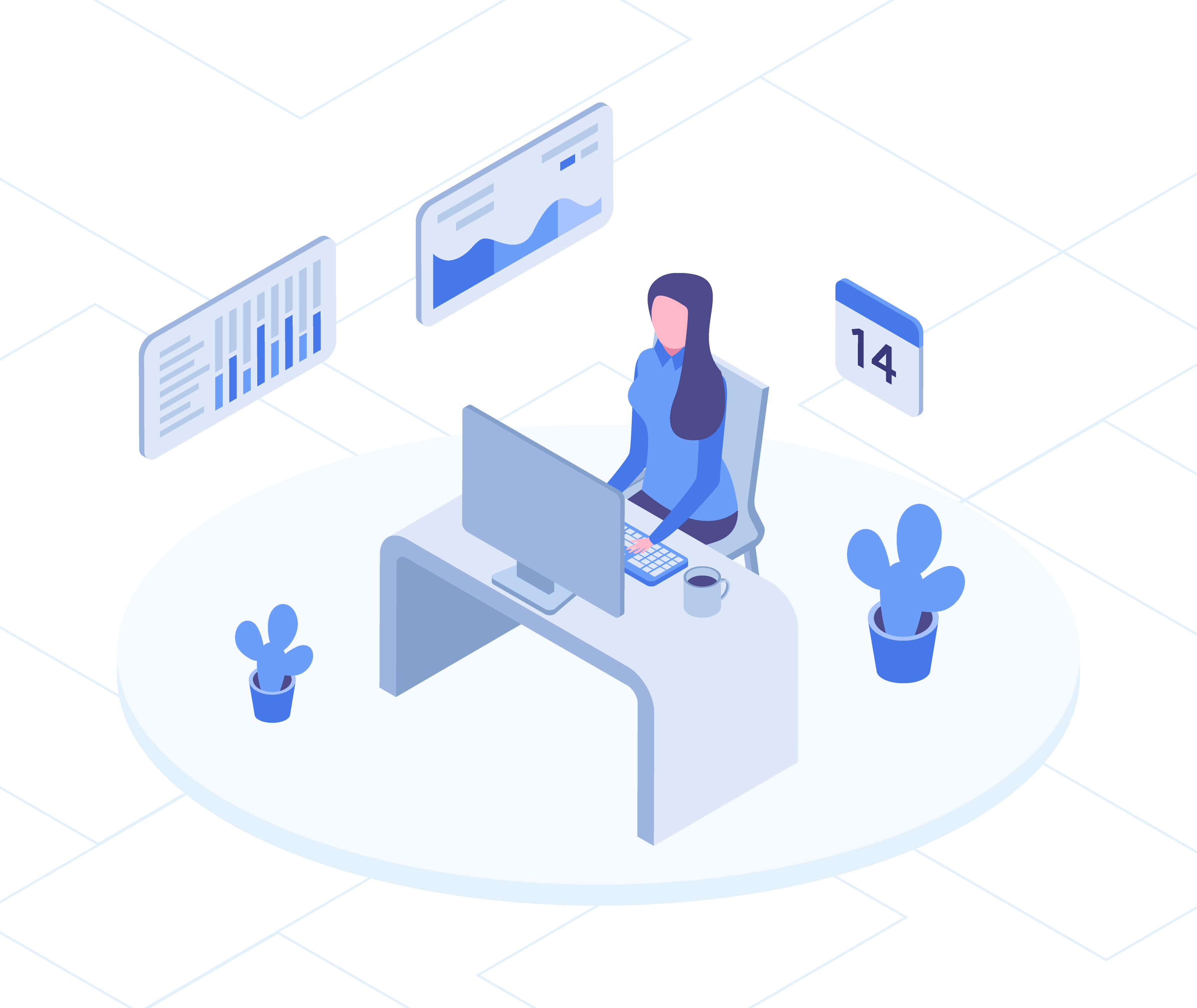 Workplace Isometric Illustration