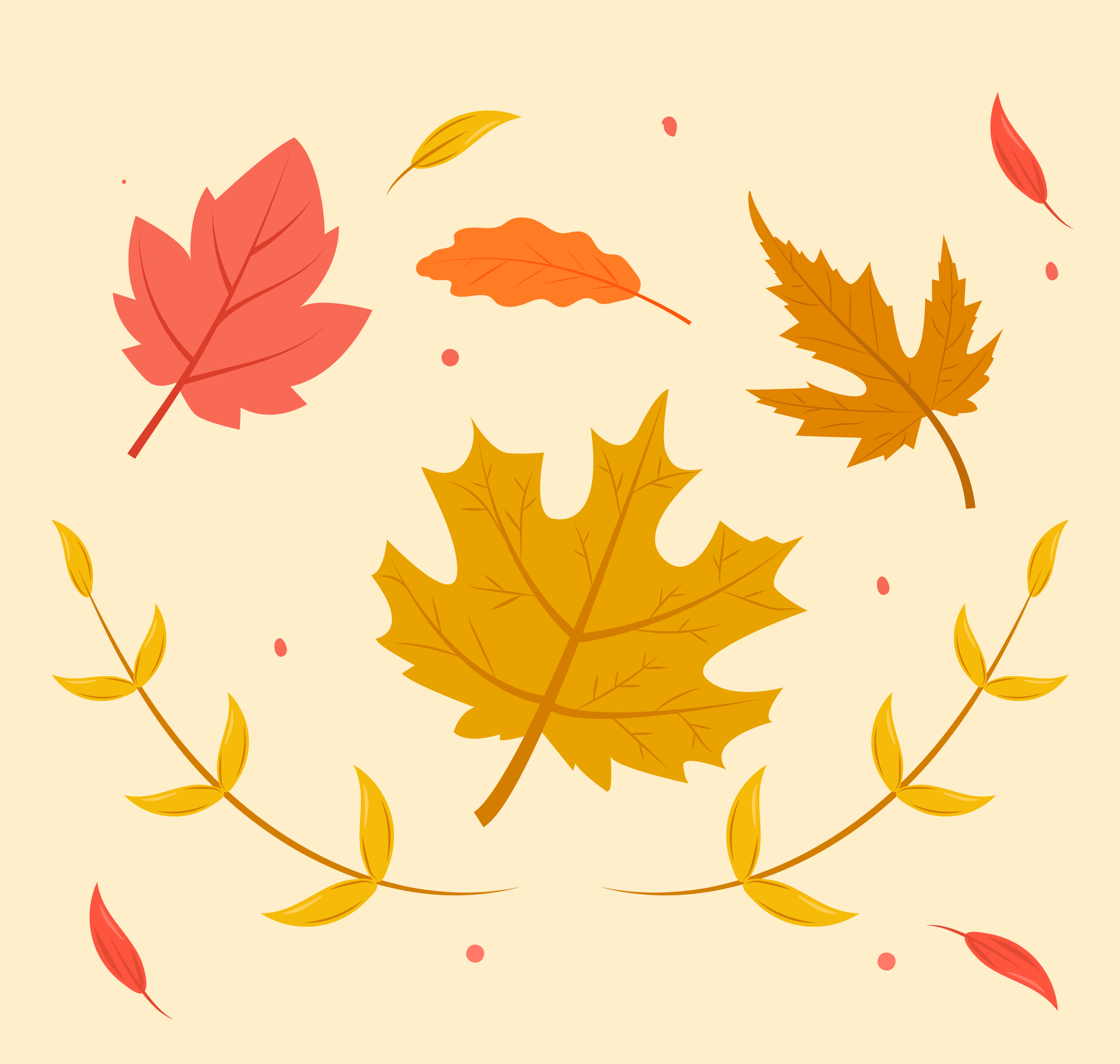 Autumn Leaves Vector Download