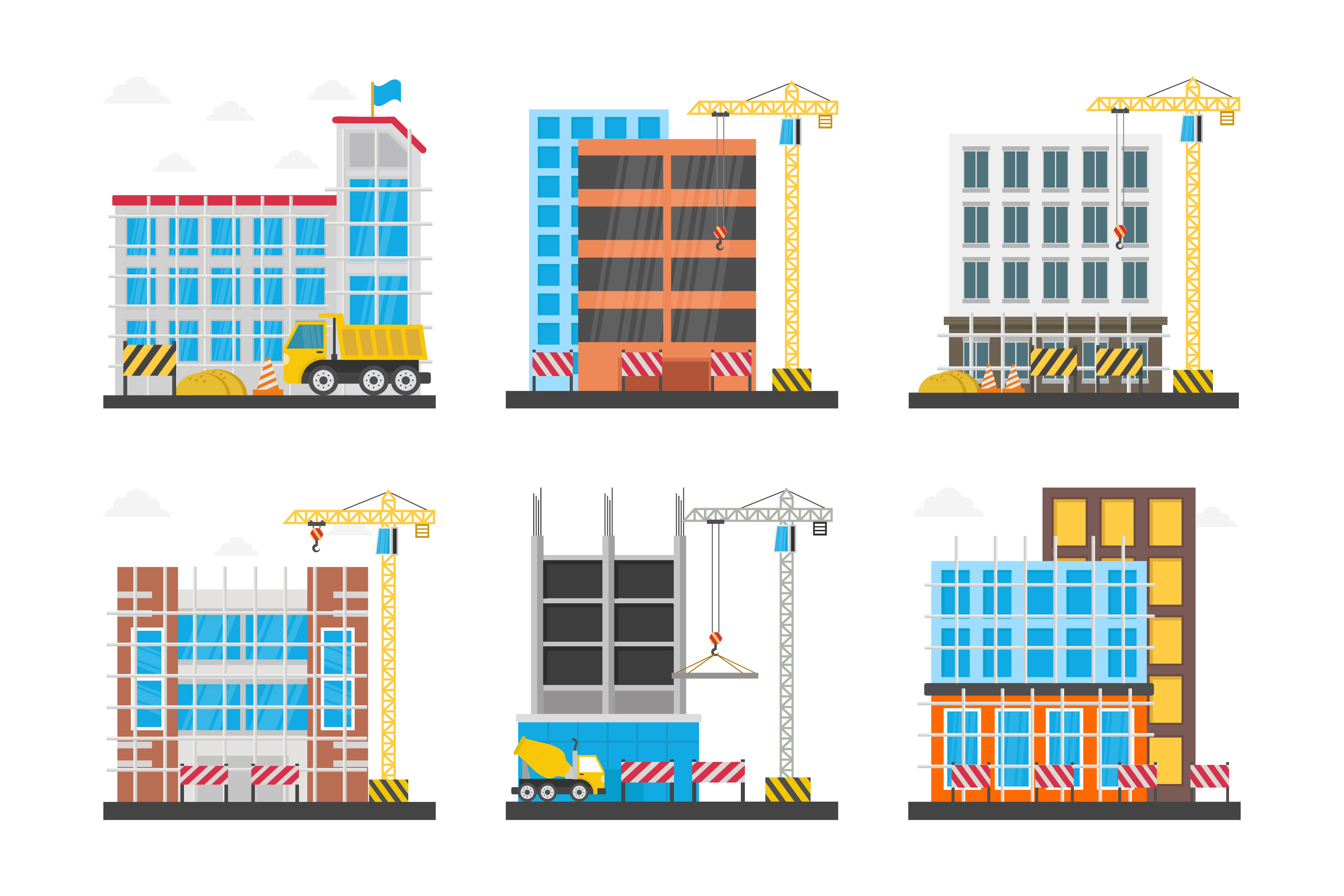 Building Construction Icons Pack
