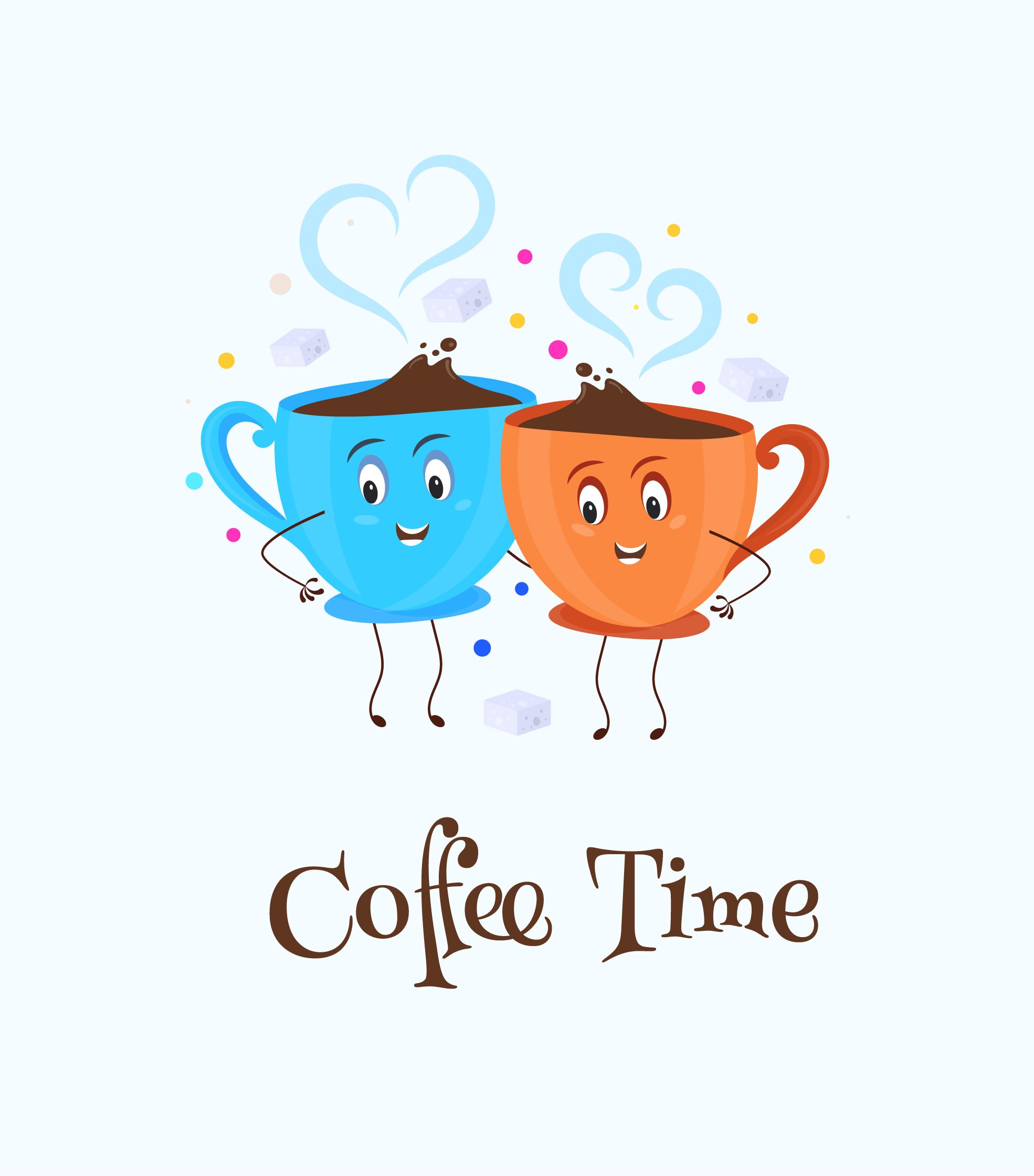 Coffee Time Logo Vector