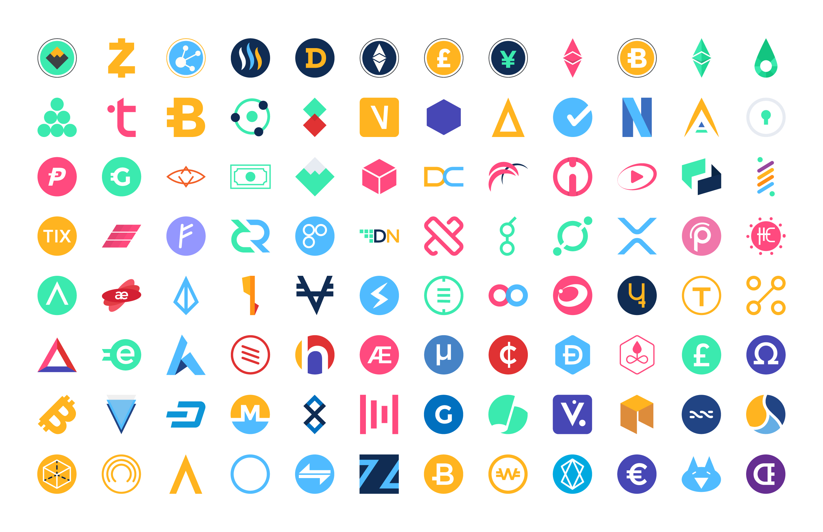 Cryptocurrency Logo Designs