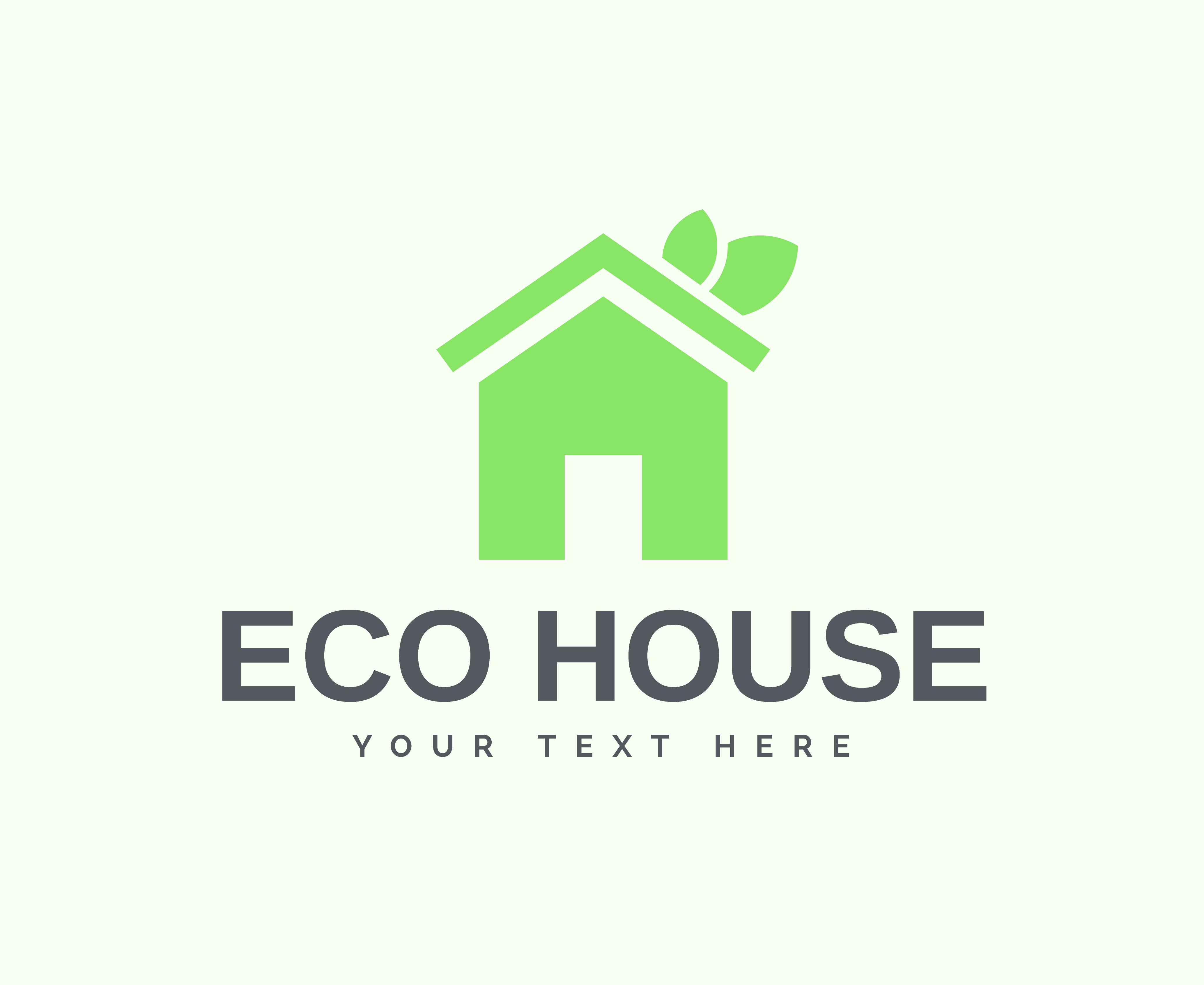 Eco House Vector Download