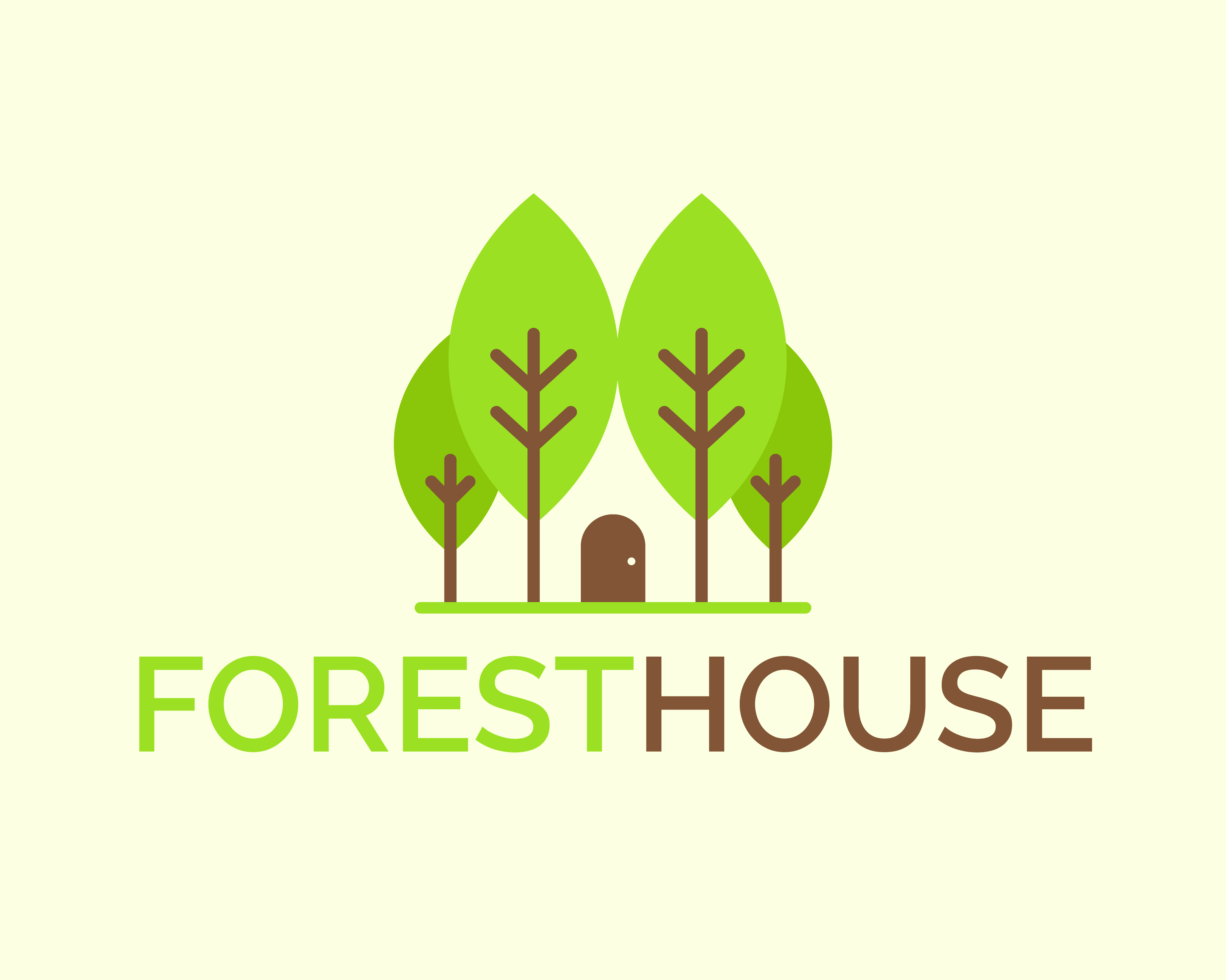 Free Forest House Logo