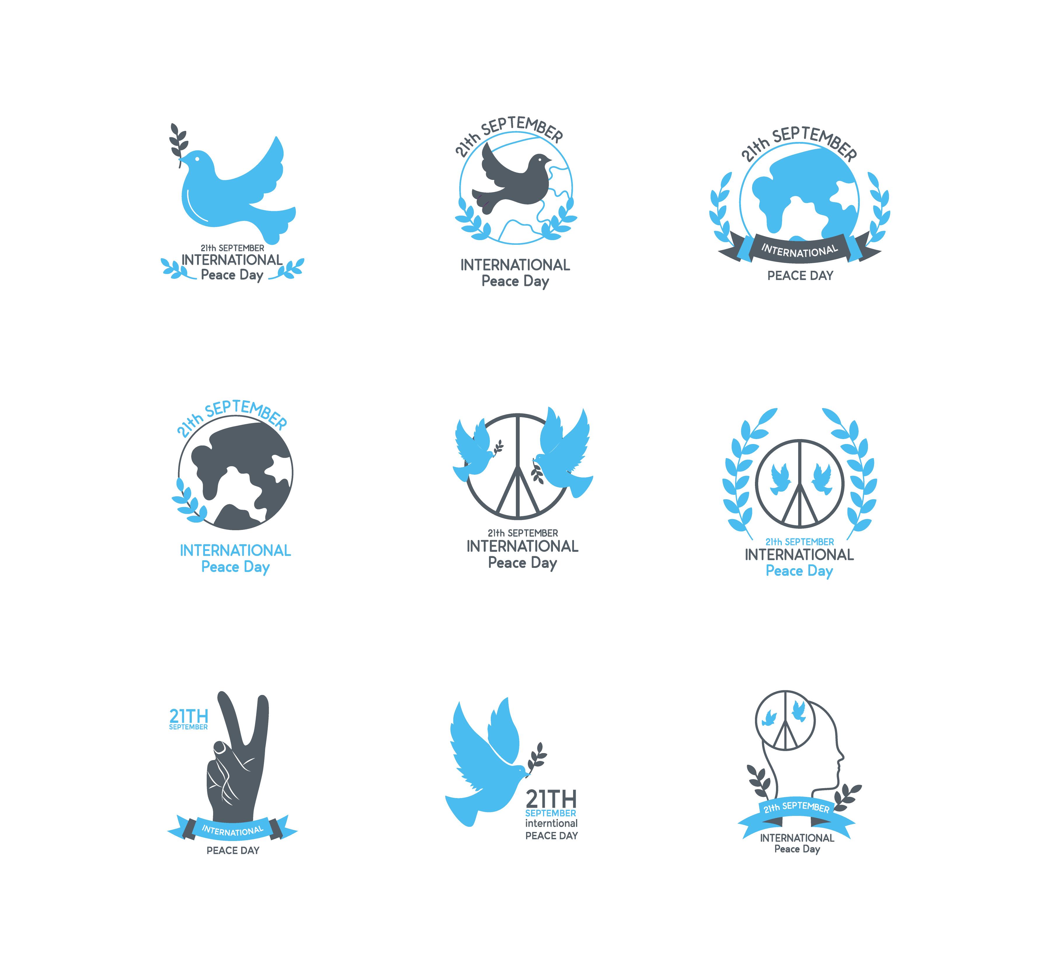 International Peace Day Vectors