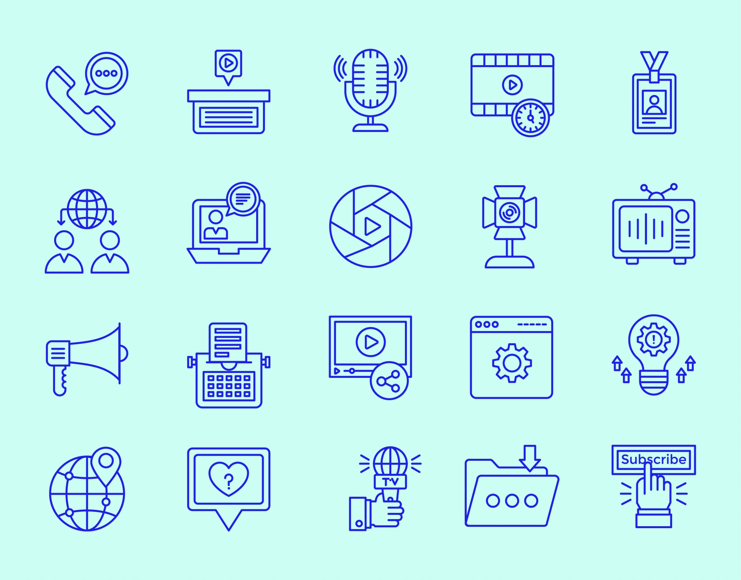 Media and Marketing Icons