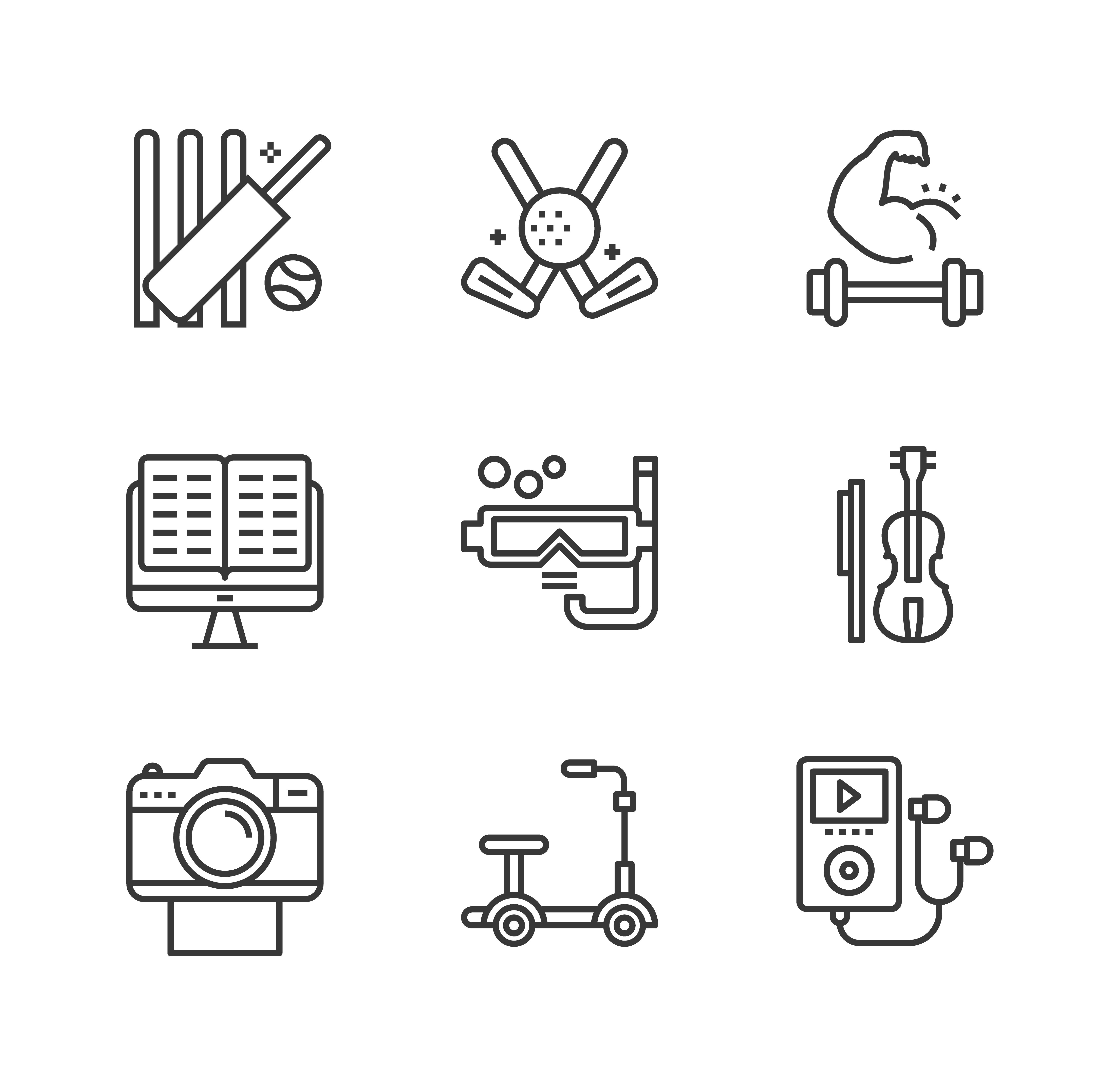 Pack of Hobbies Vector