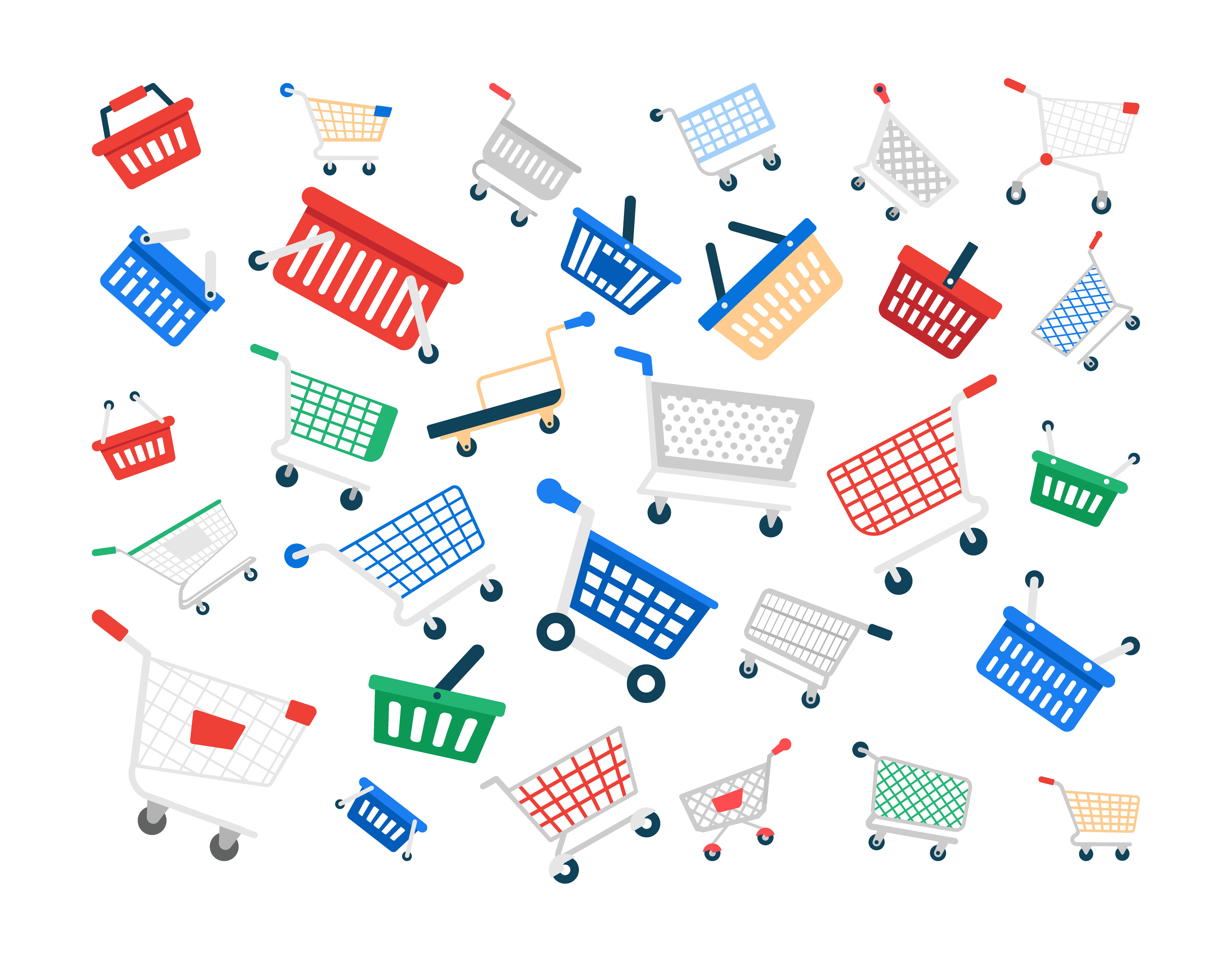 Pack of Shopping Cart