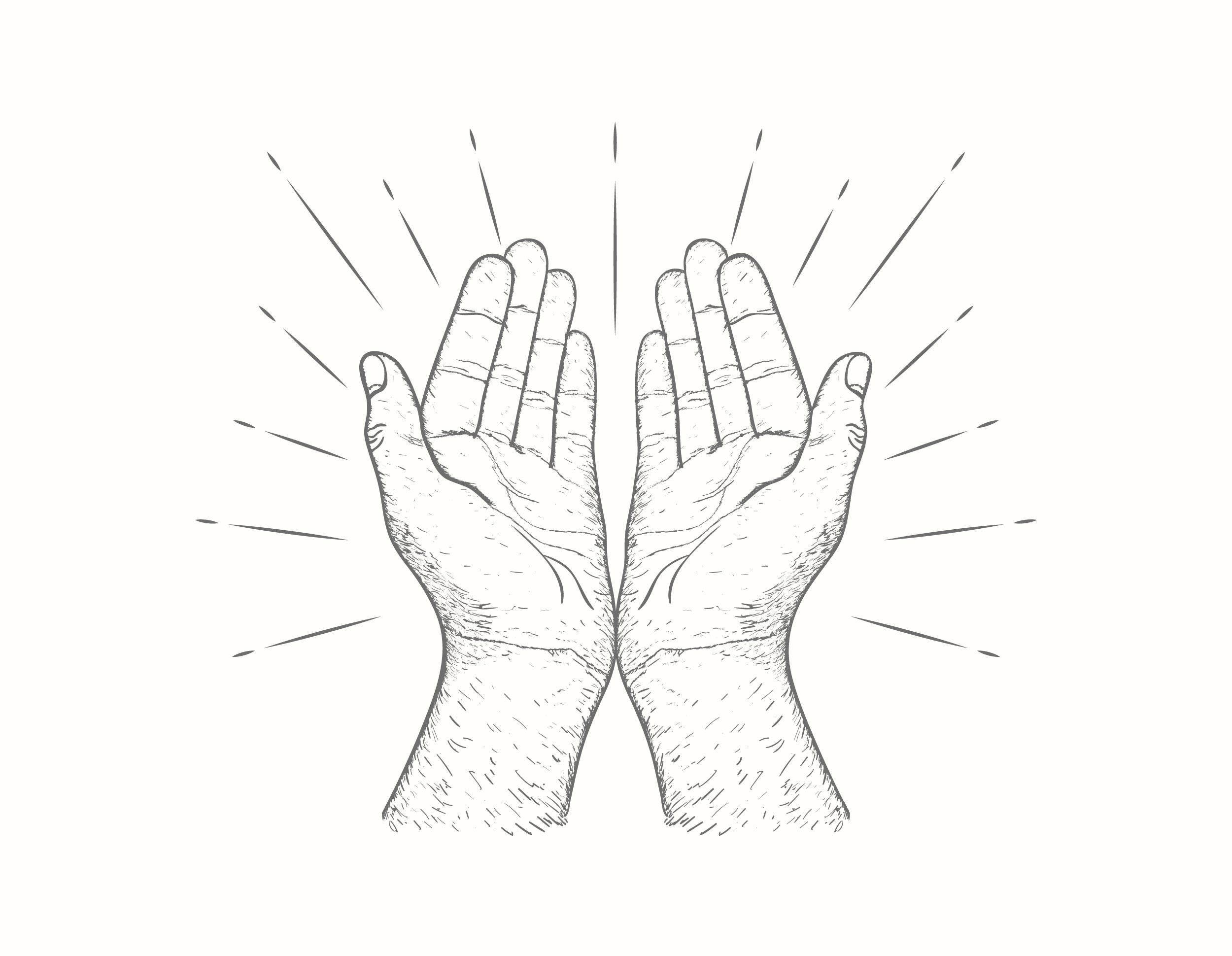 Praying Hands Vector Download