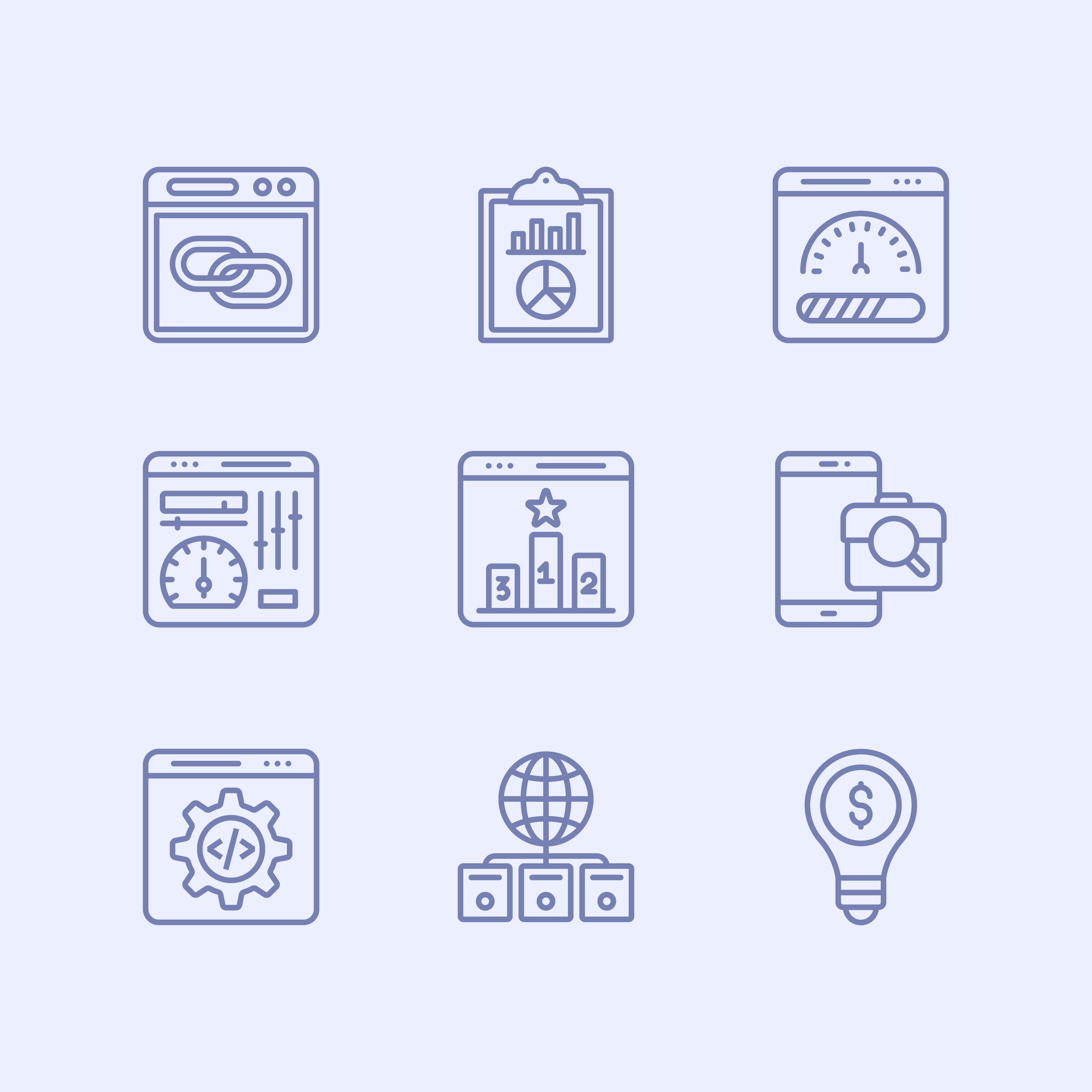 Seo Line Icons Pack