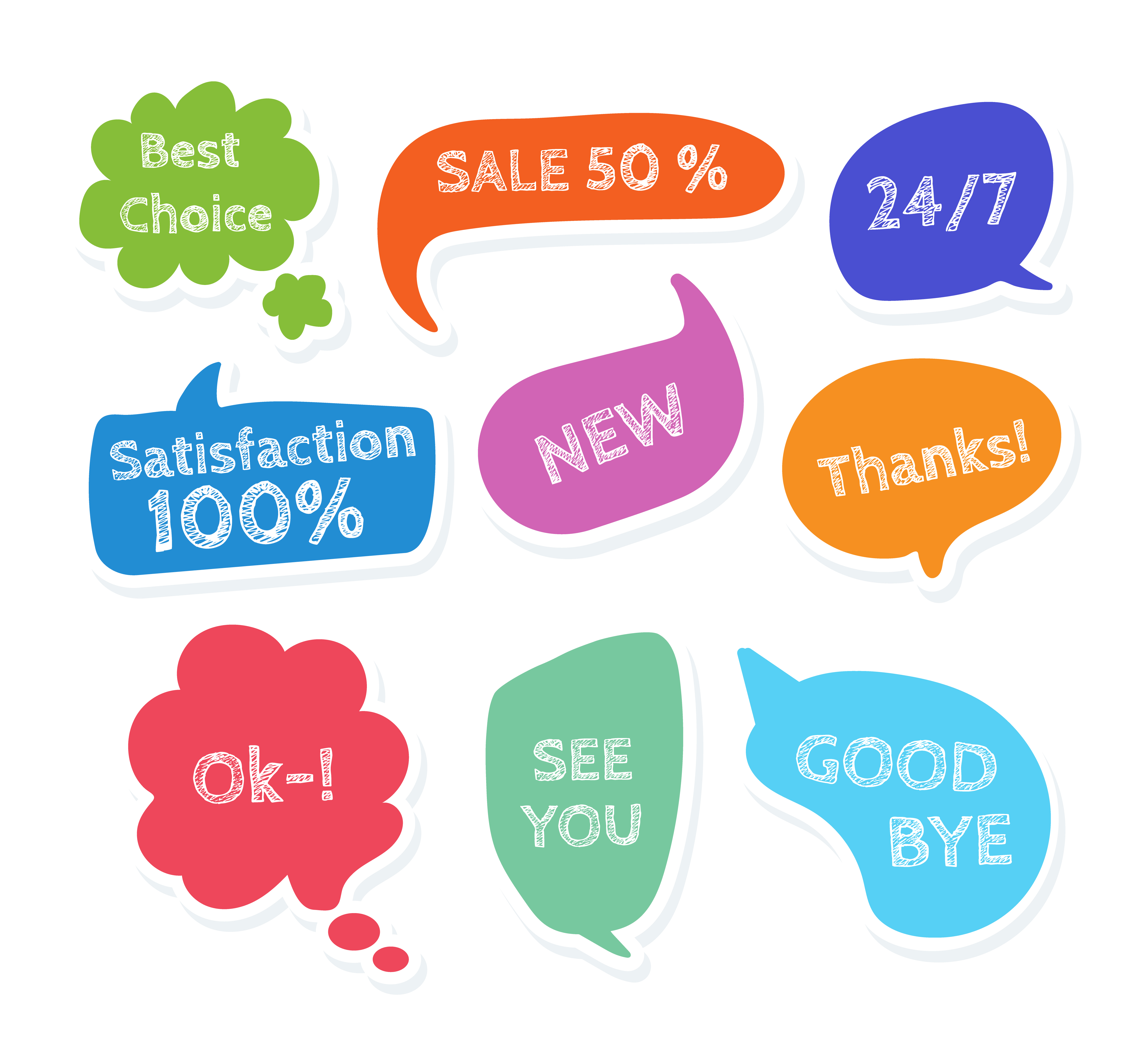 Speech Bubbles Vector Download