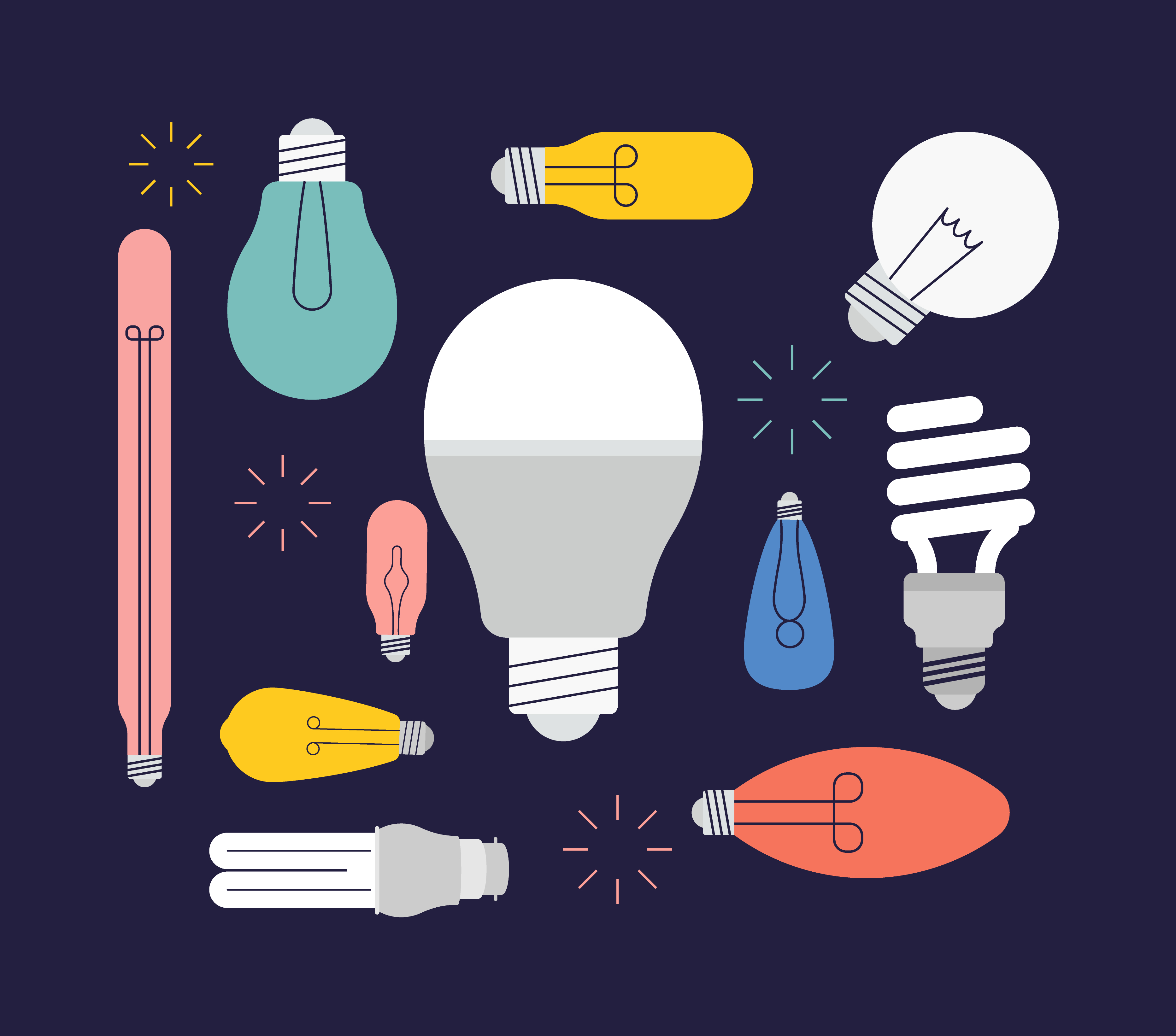 Light Bulb Vector Set