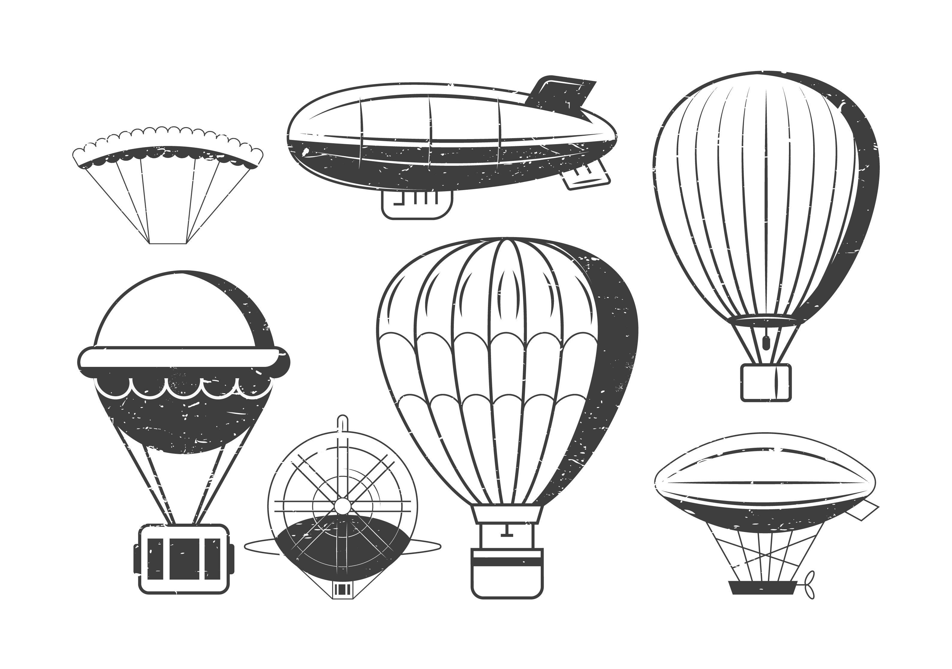 Vintage Airship Icons Pack