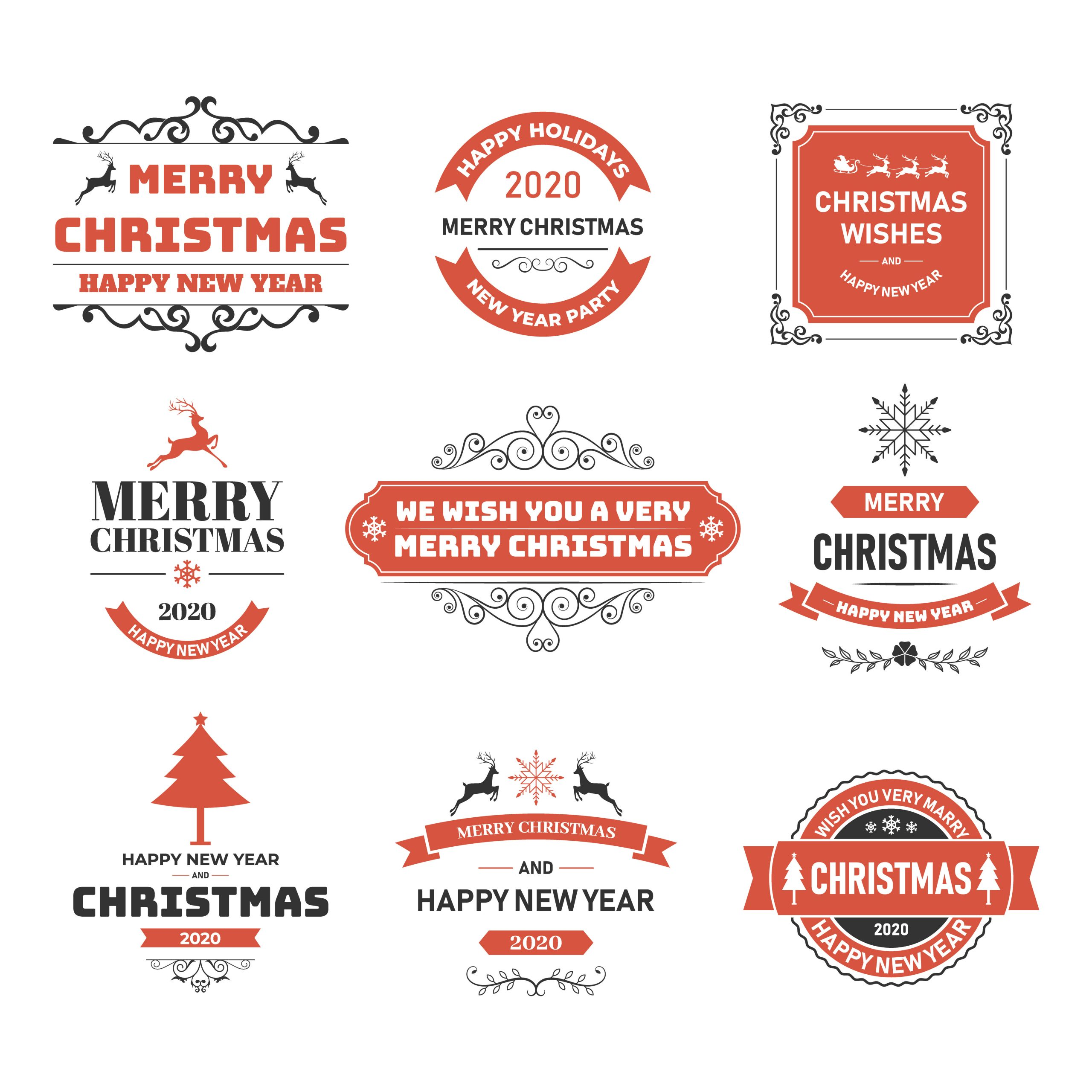 Christmas and New Year Vectors