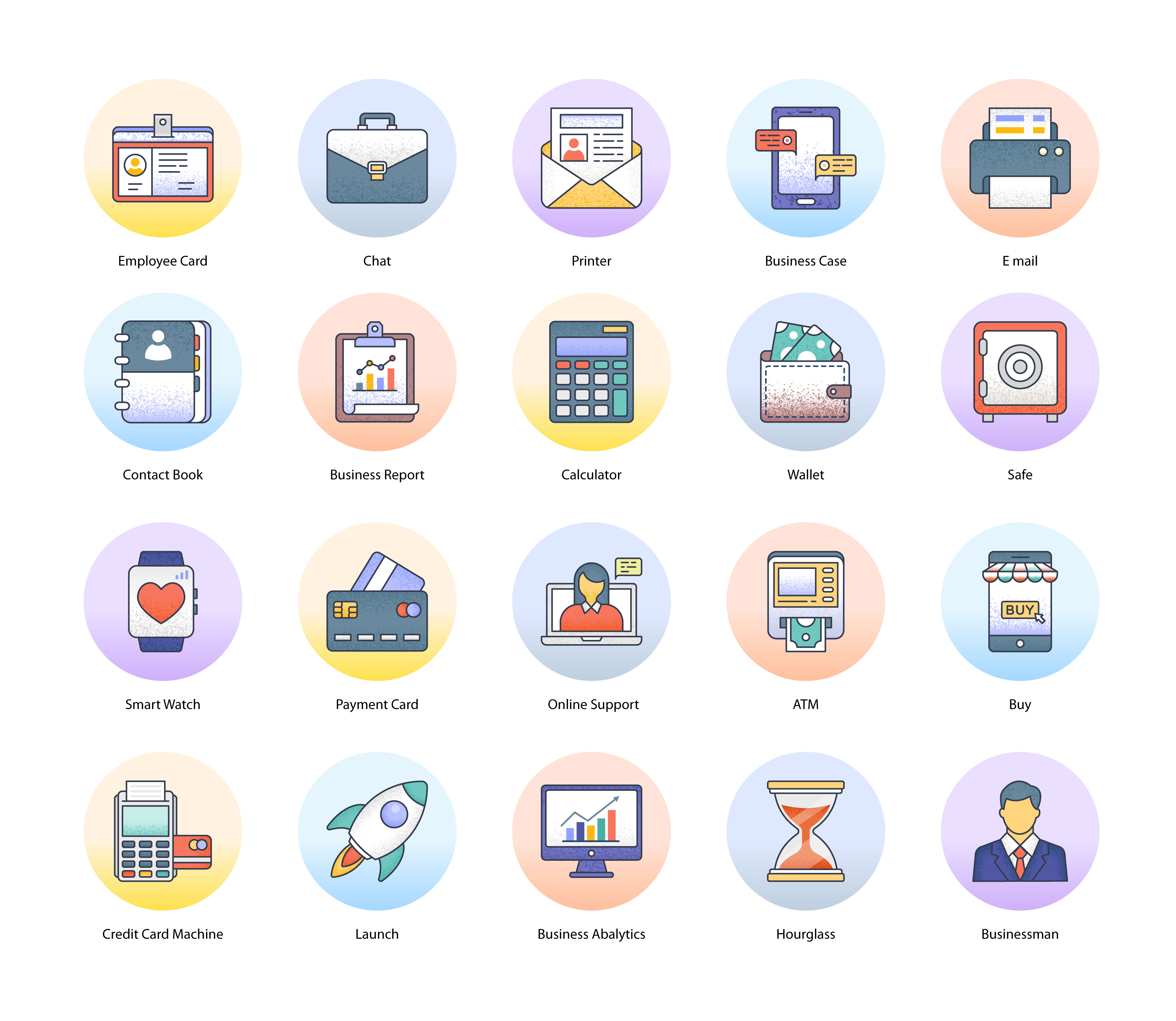 Business and Finance Flat Icons