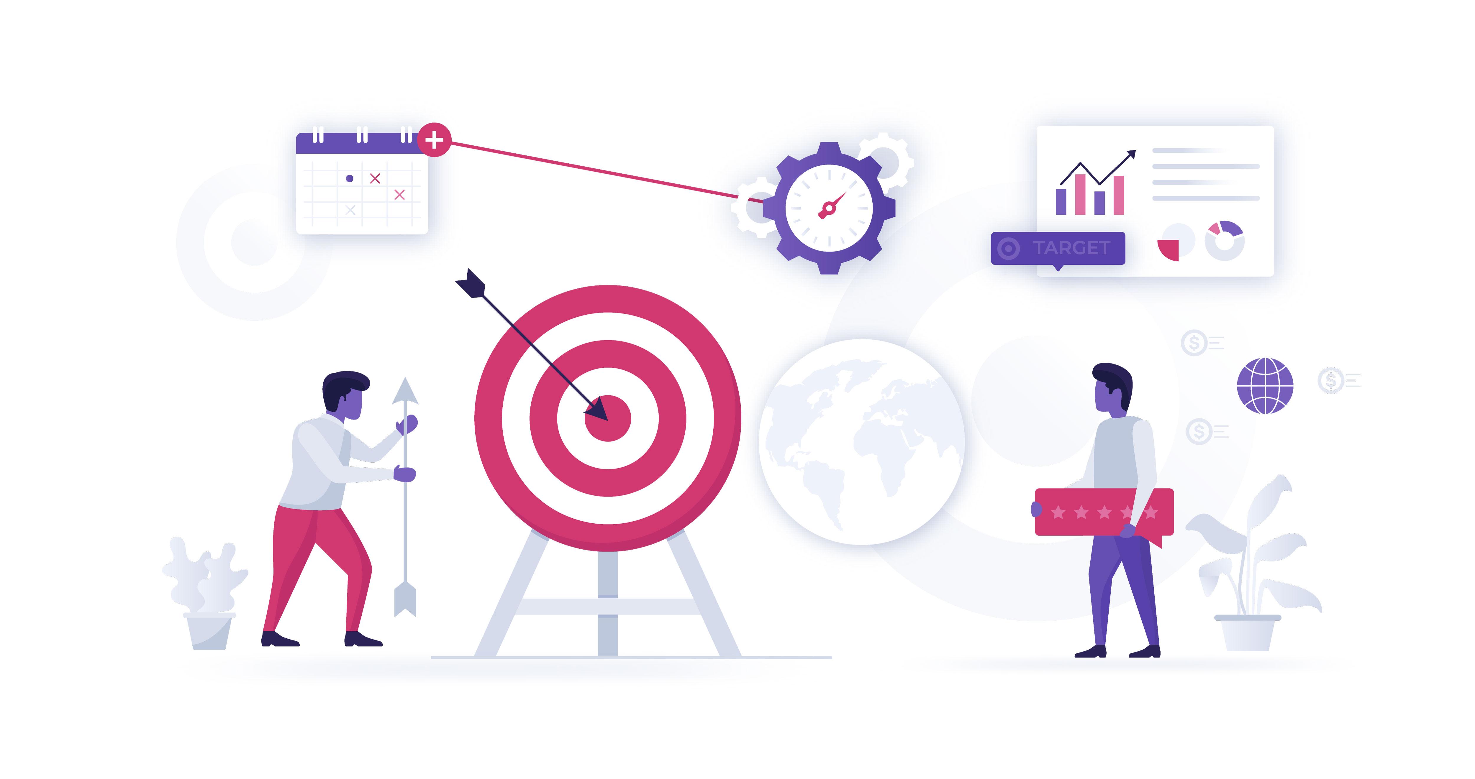 Business Target Vector Illustration