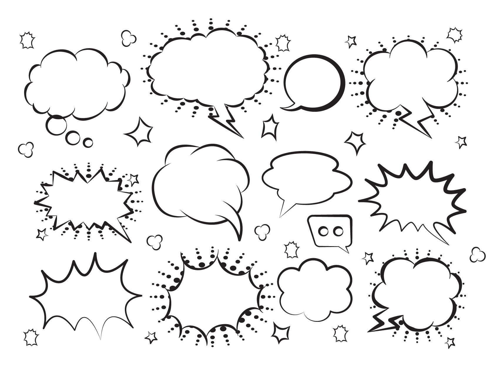 Retro Comic Speech Bubbles