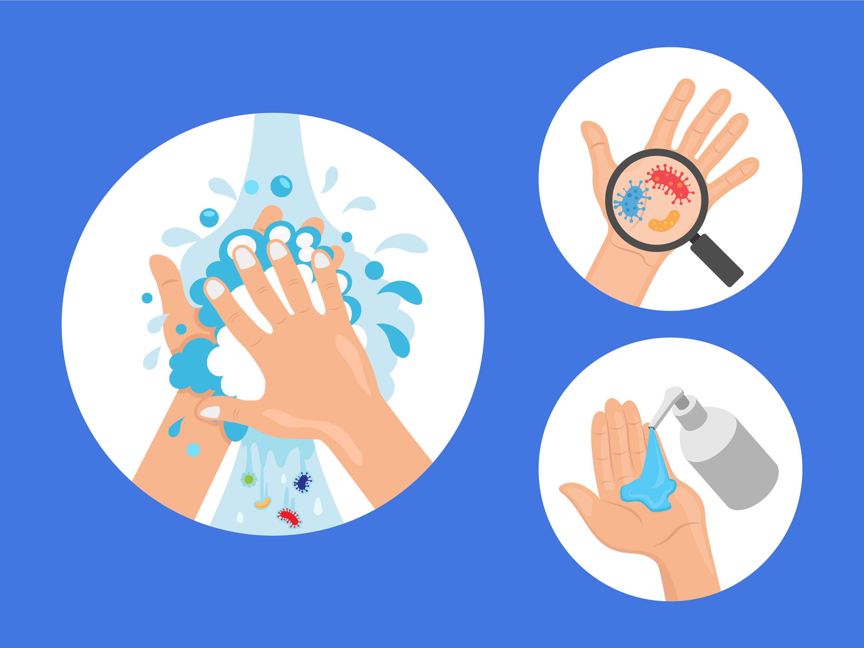 Hand Hygiene Vector Illustration